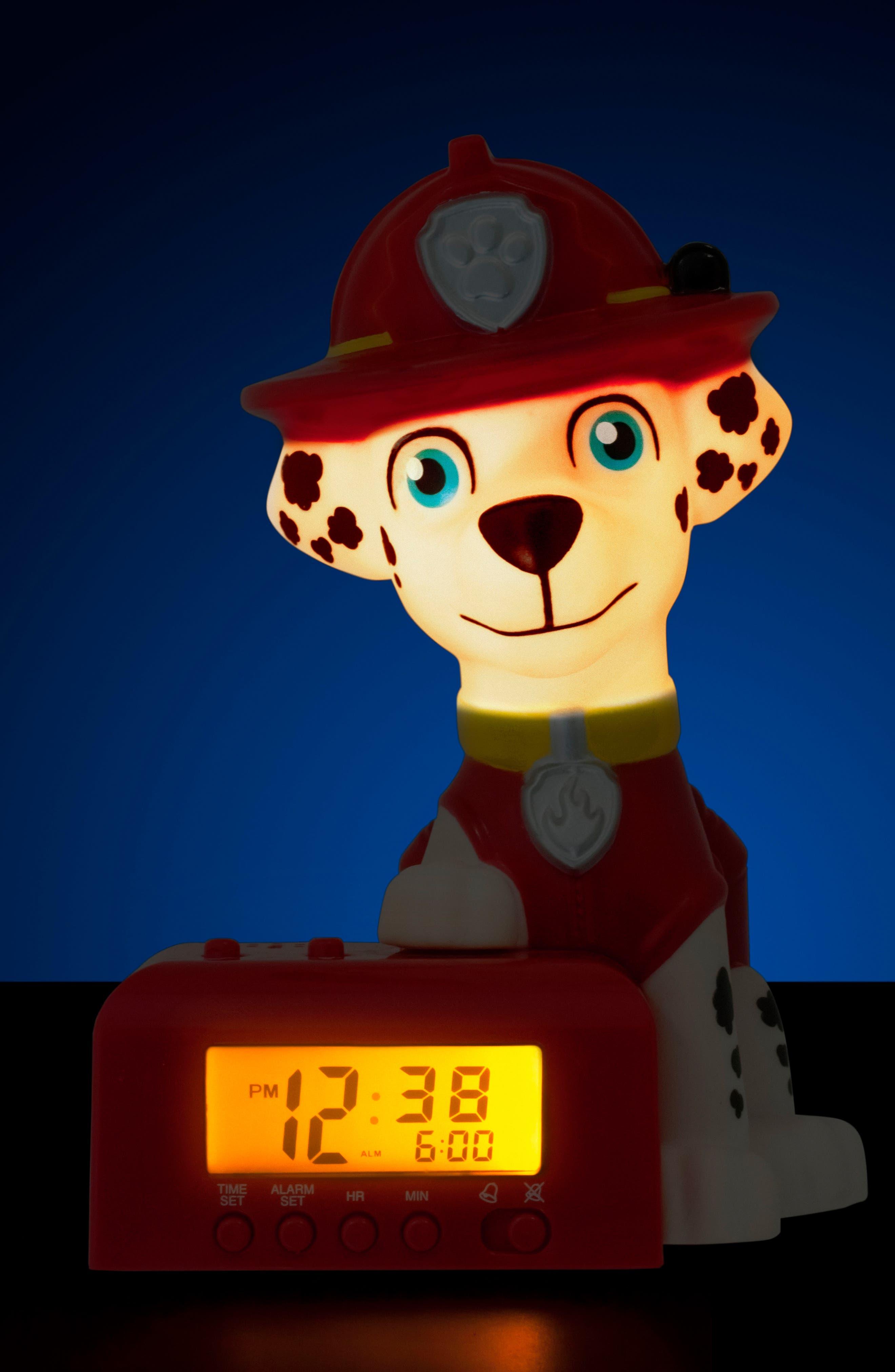Paw Patrol - Marshall Night-Light/Alarm Clock,                             Alternate thumbnail 3, color,