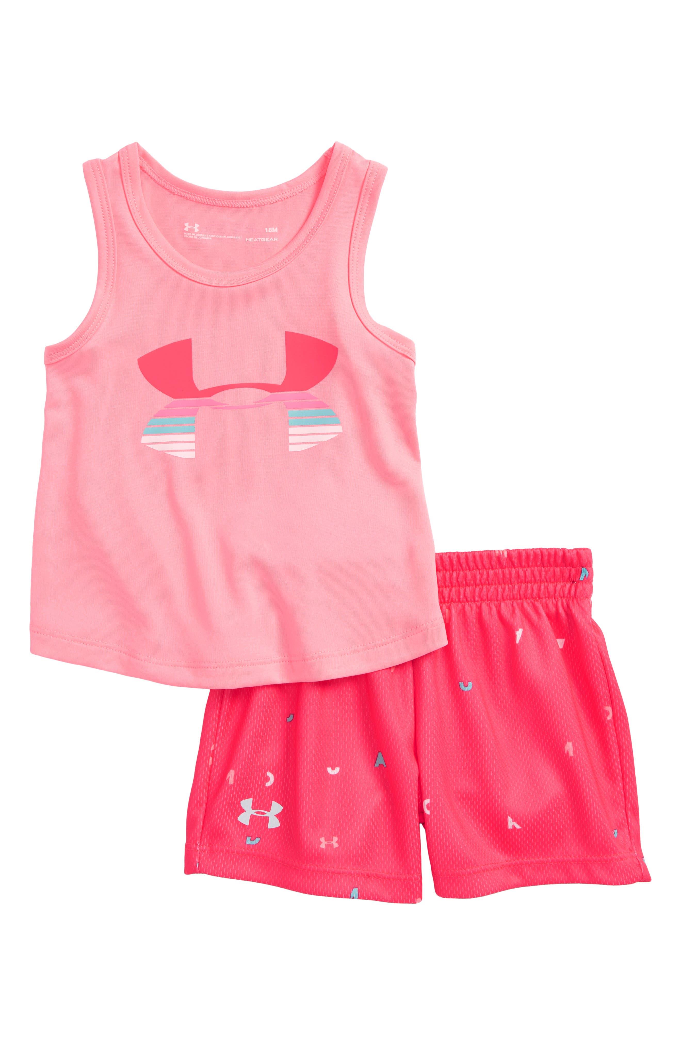 Scramble Logo HeatGear<sup>®</sup> Tank & Mesh Shorts Set,                         Main,                         color, 680