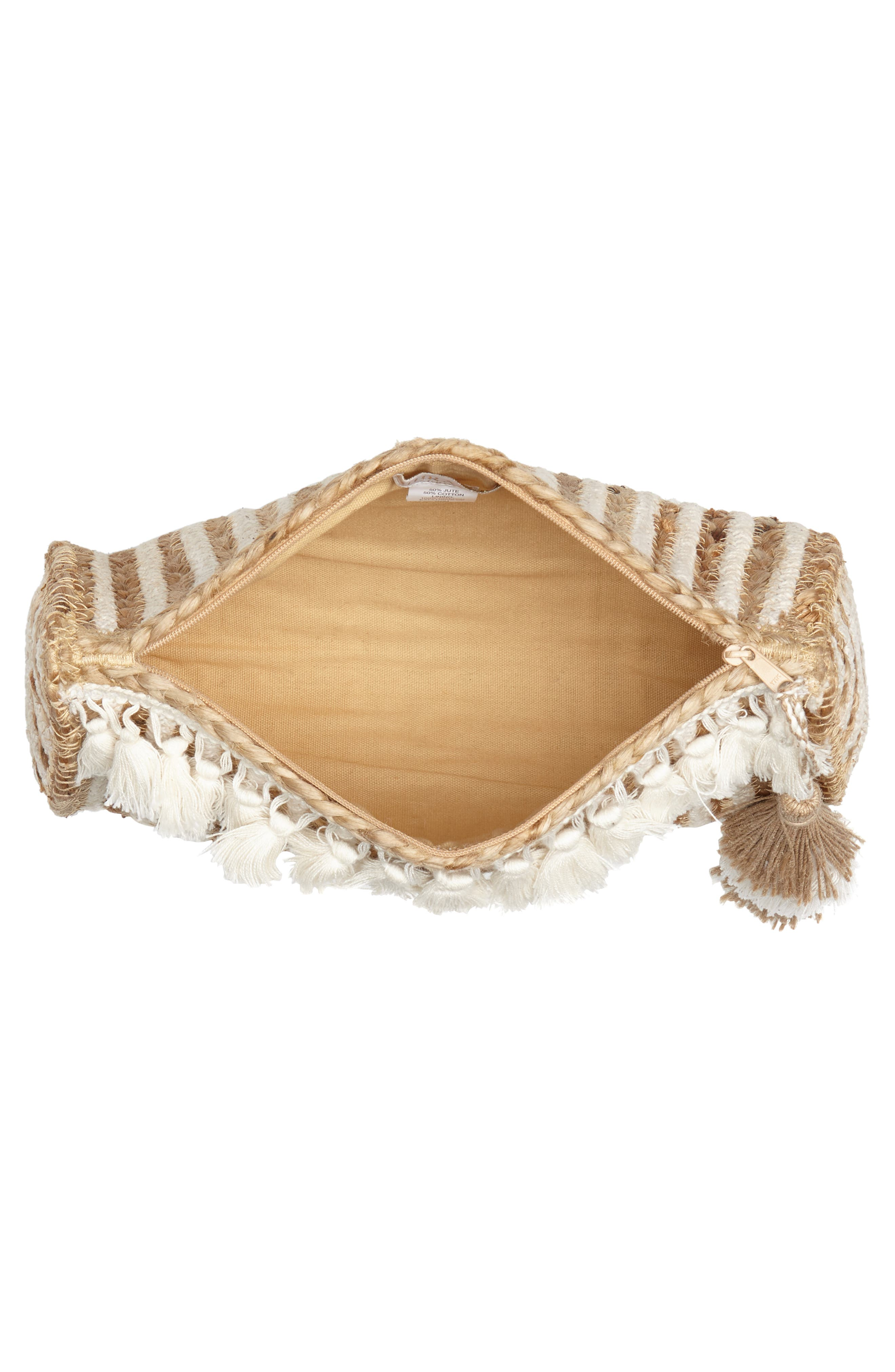 Mare Straw Clutch,                             Alternate thumbnail 4, color,