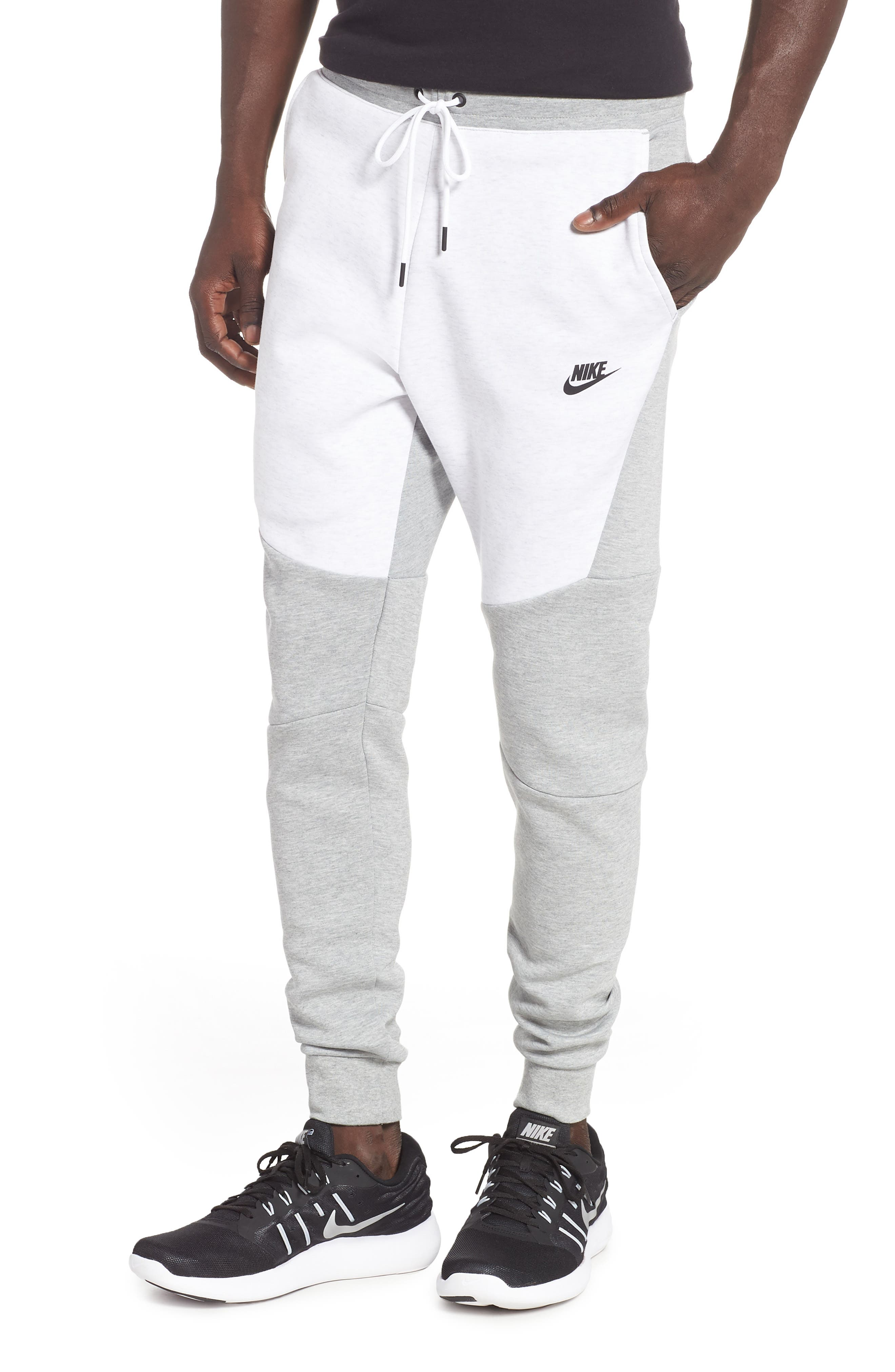 Tech Fleece Jogger Pants, Main, color, HEATHER/ BIRCH HEATHER/ BLACK