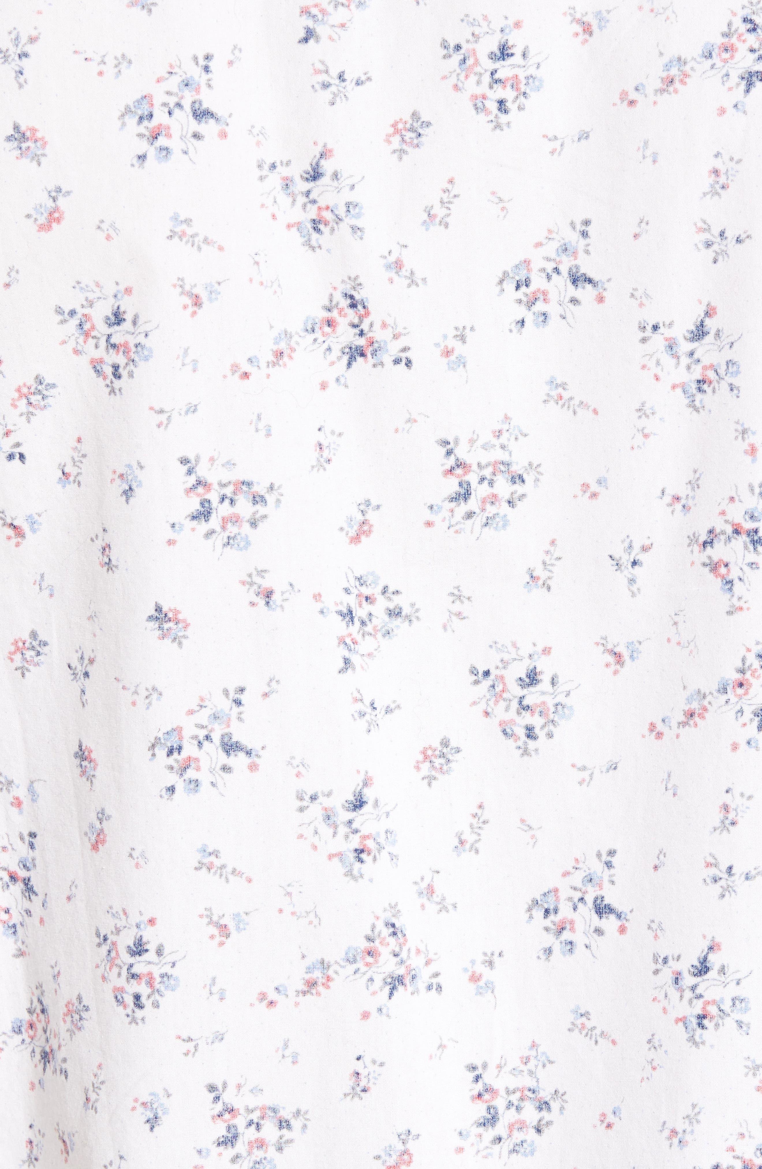 Carson Slim Fit Floral Print Sport Shirt,                             Alternate thumbnail 5, color,                             100