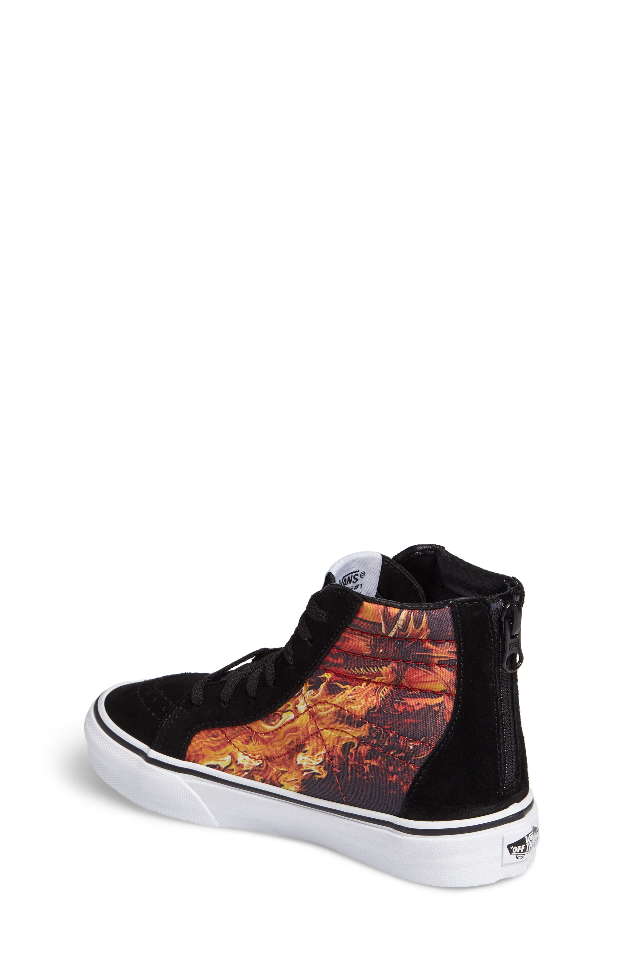 SK8-Hi Dragon Zip Sneaker,                             Alternate thumbnail 2, color,