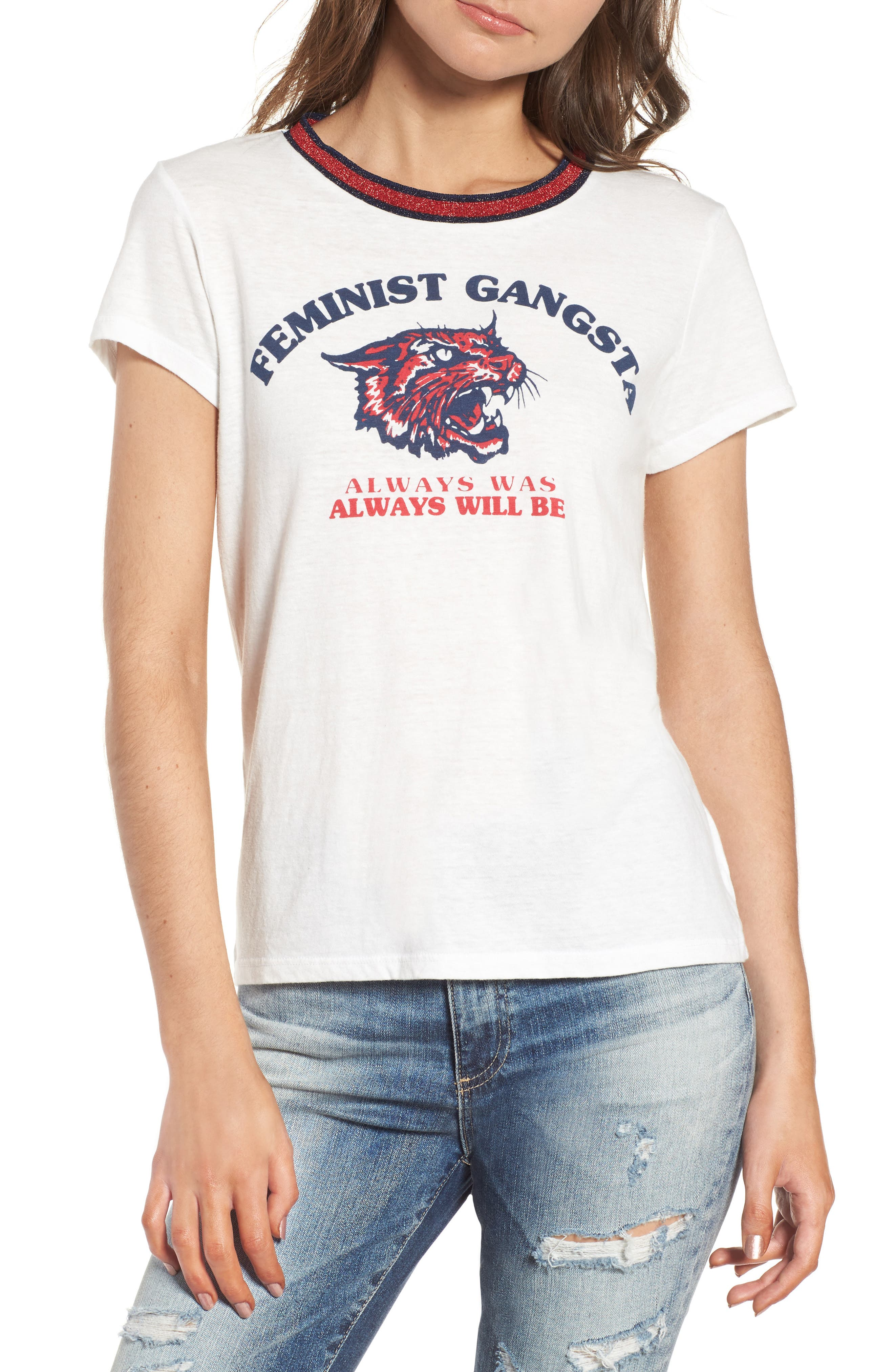 Feminist Gangsta Tee,                         Main,                         color,