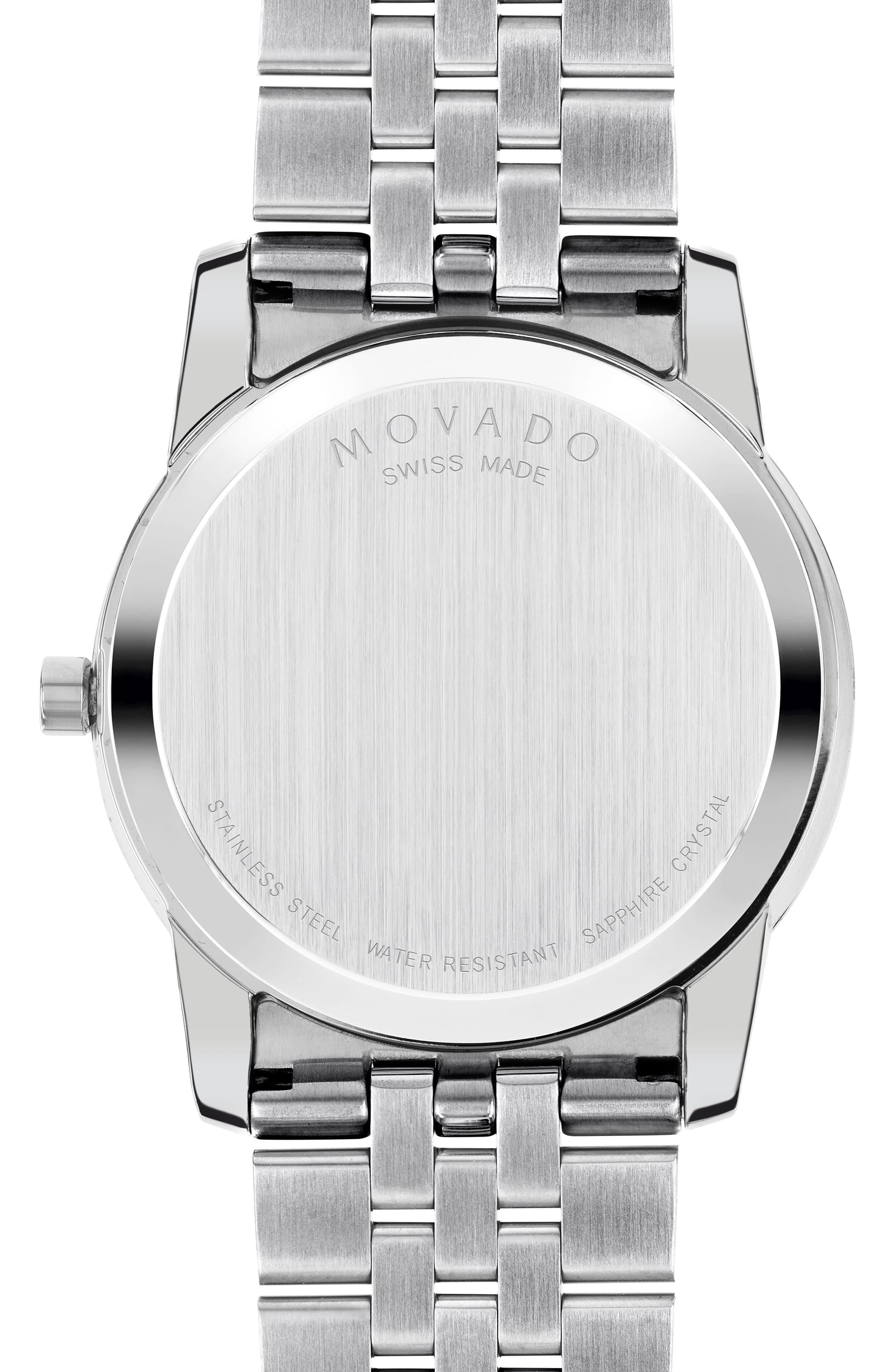 MOVADO,                             'Museum' Bracelet Watch, 40mm,                             Alternate thumbnail 2, color,                             040