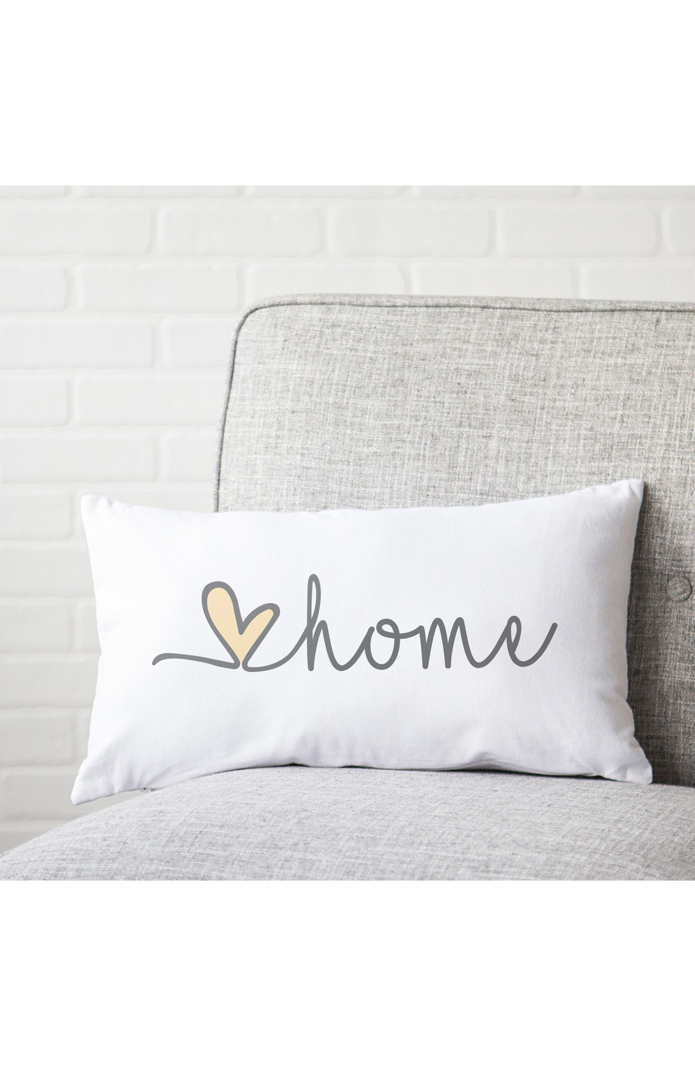 Love Home Lumbar Accent Pillow,                             Alternate thumbnail 5, color,                             GREY