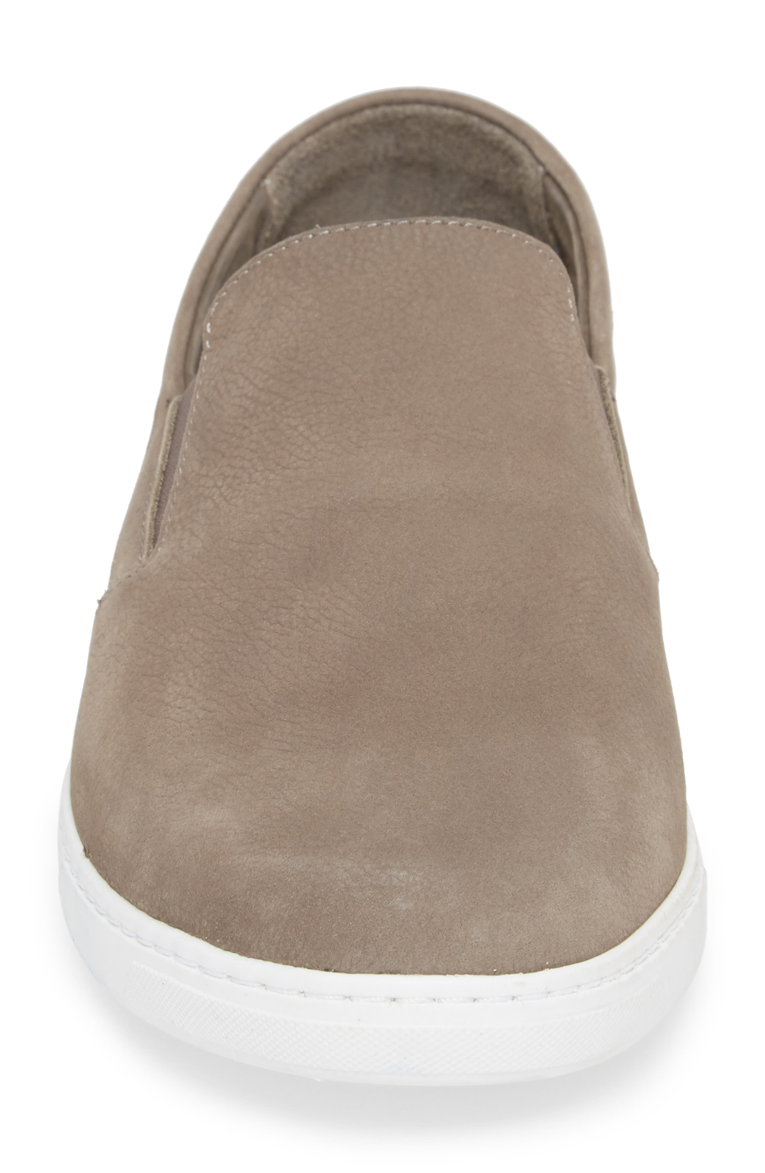 VINCE CAMUTO,                             Neff Slip-On Sneaker,                             Alternate thumbnail 4, color,                             DARK GREY LEATHER