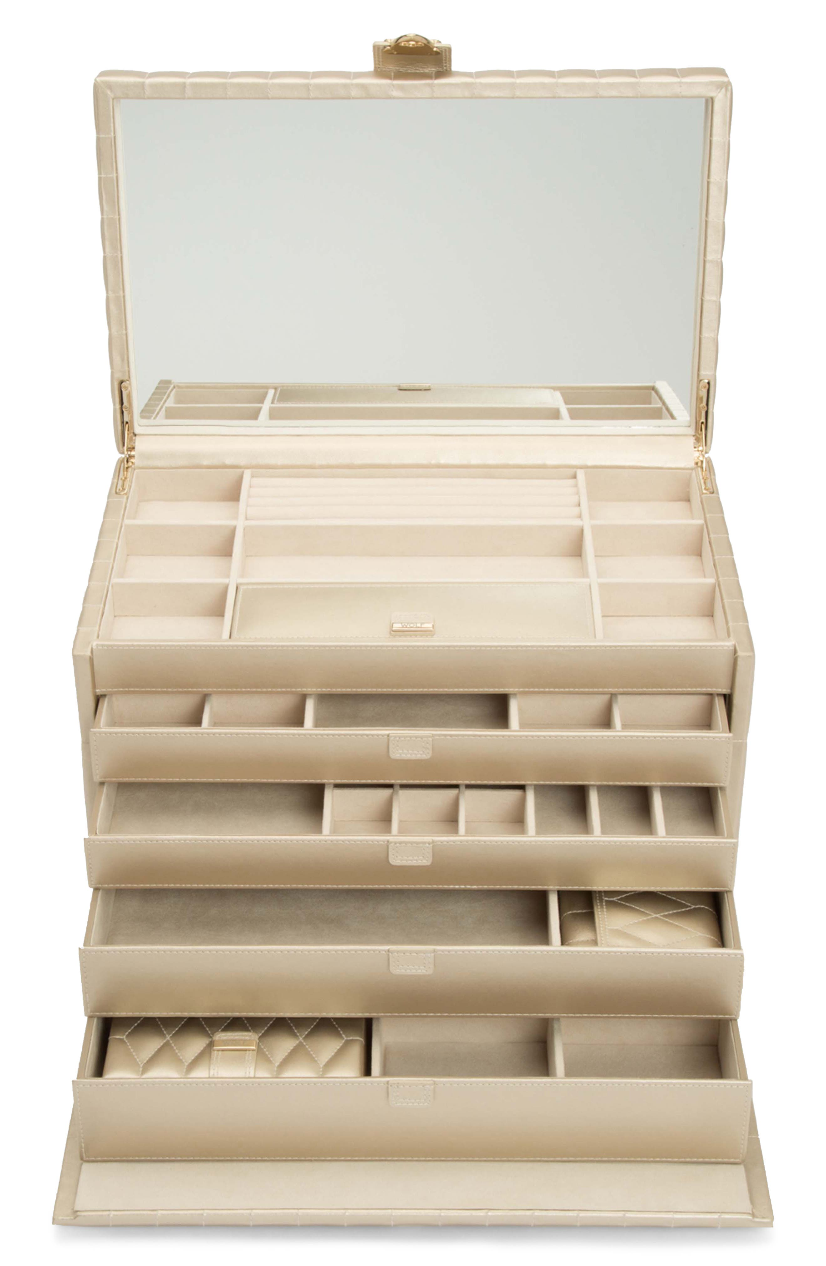 Caroline Jewelry Box,                             Alternate thumbnail 2, color,                             CHAMPAGNE - X-LARGE