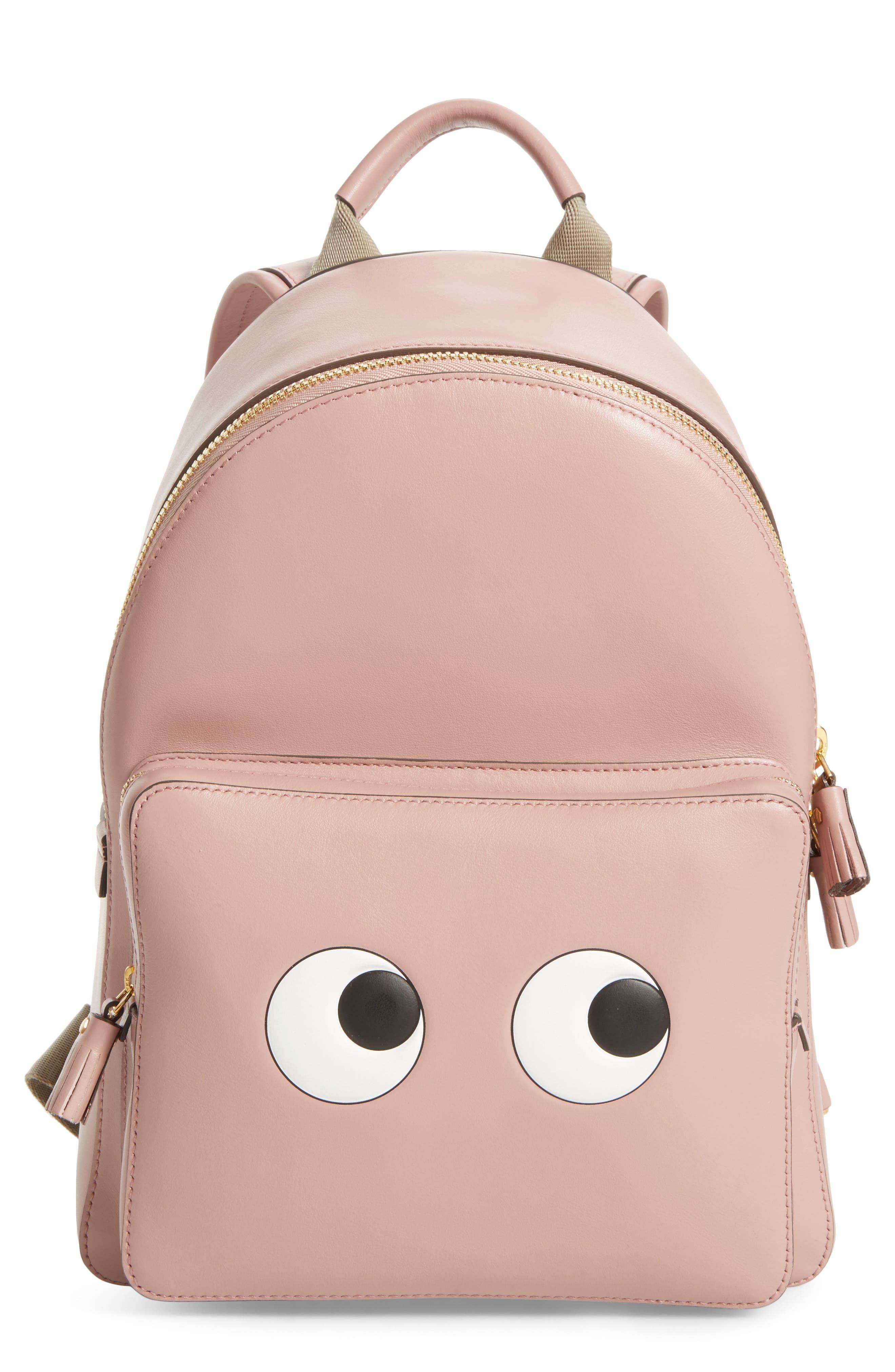 ANYA HINDMARCH,                             Eyes Mini Leather Backpack,                             Main thumbnail 1, color,                             650