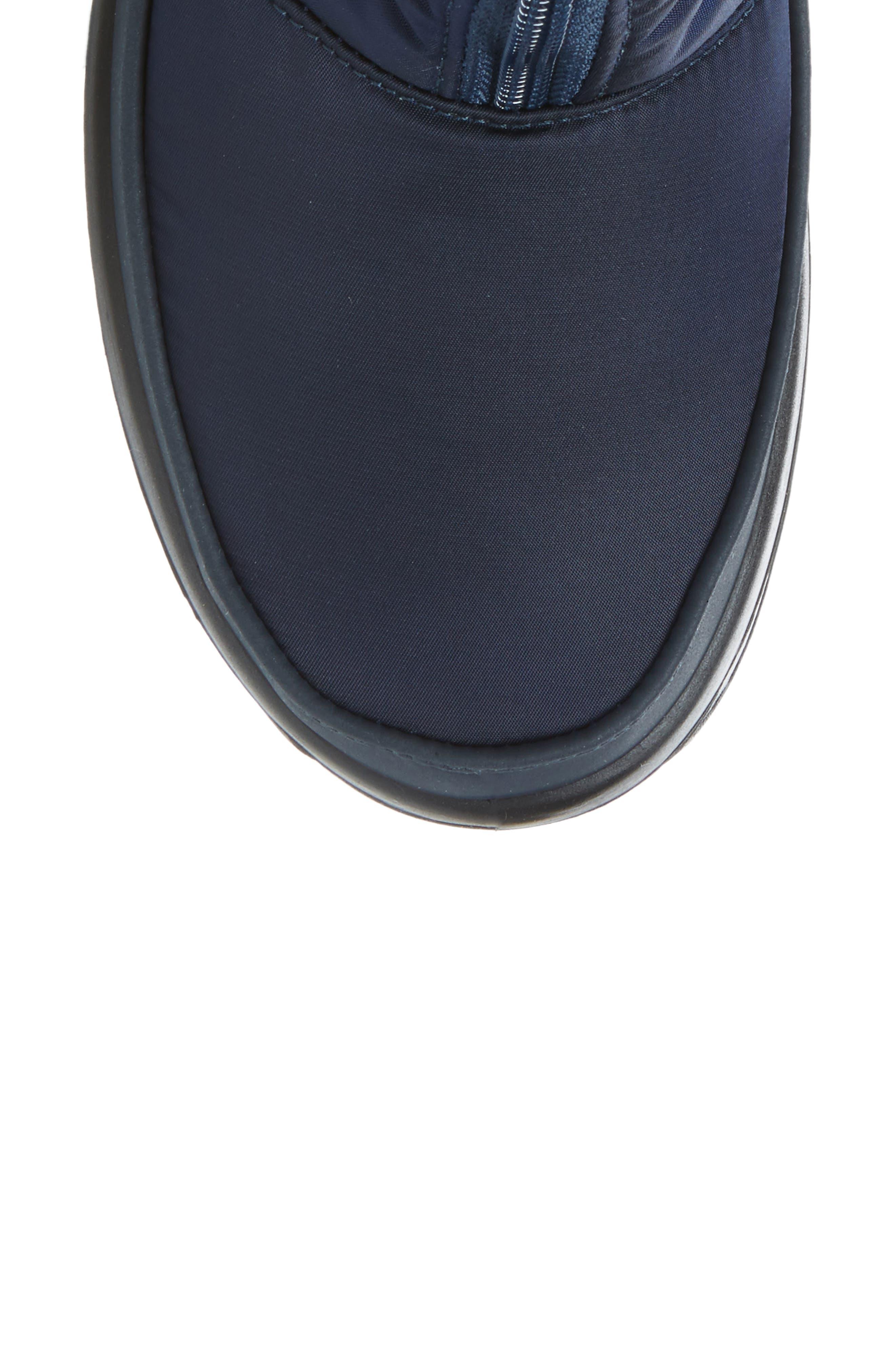 Toboggan 2 Faux Fur Trim Insulated Waterproof Boot,                             Alternate thumbnail 5, color,                             NAVY FABRIC