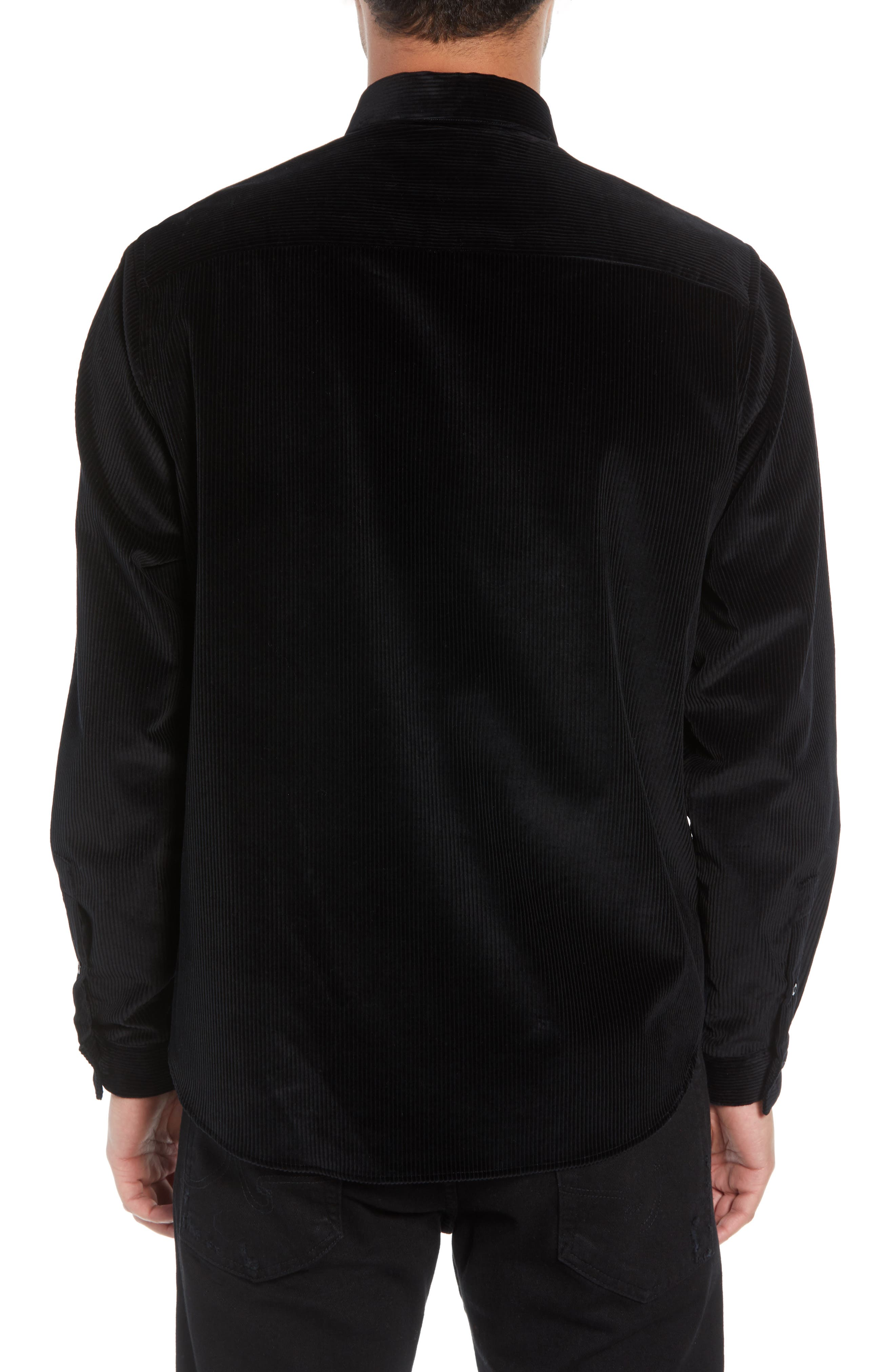 THE KOOPLES,                             Regular Fit Corduroy Shirt,                             Alternate thumbnail 3, color,                             001