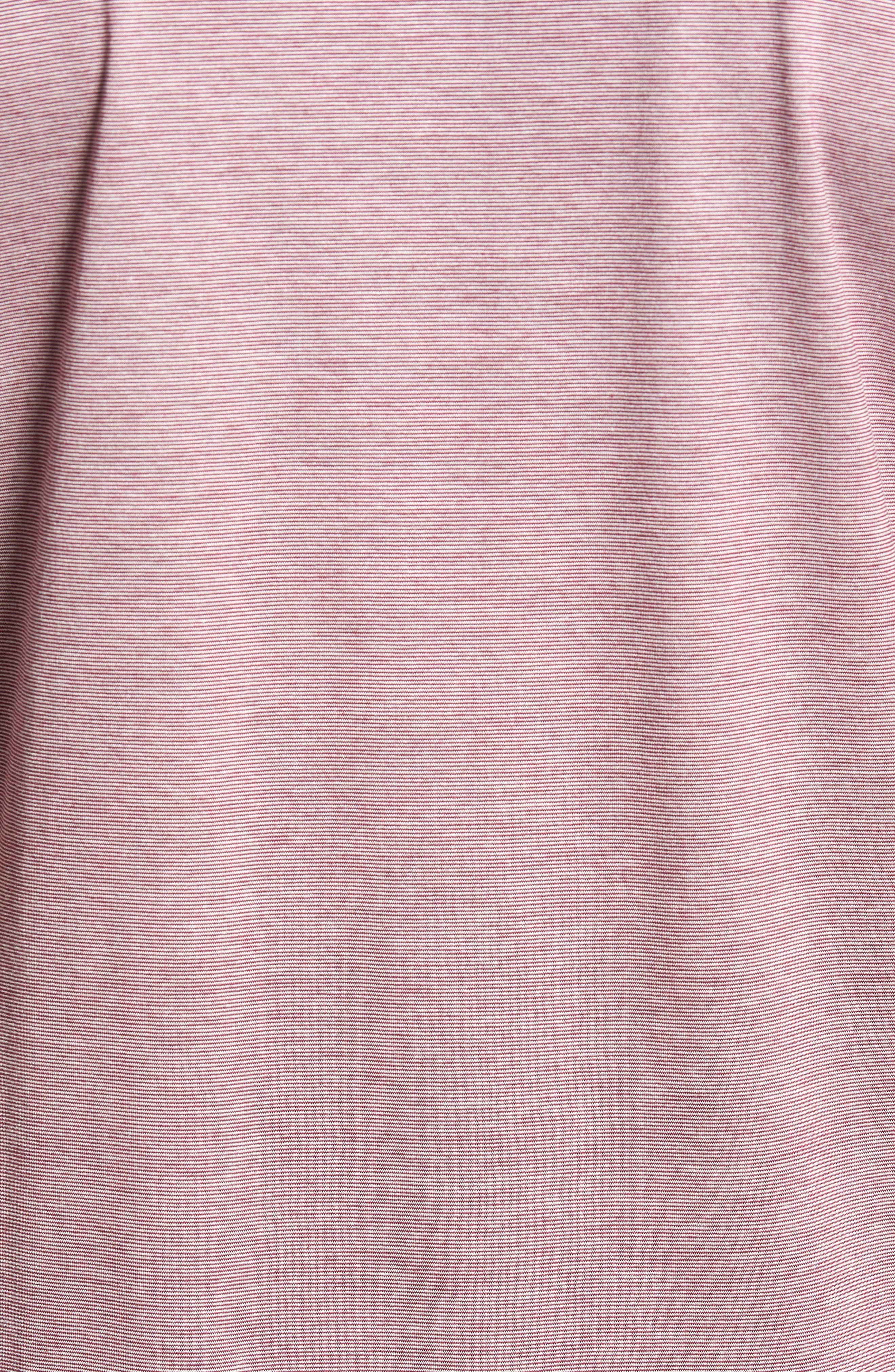 Briarwood Stripe Cotton Polo,                             Alternate thumbnail 5, color,                             PULPO