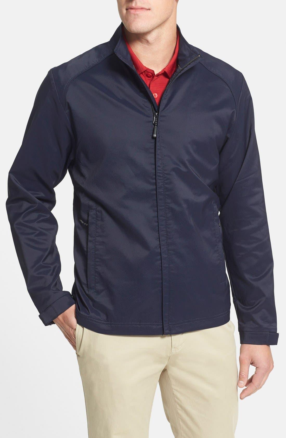 Blakely WeatherTec<sup>®</sup> Wind & Water Resistant Full Zip Jacket,                             Main thumbnail 1, color,                             LIBERTY NAVY