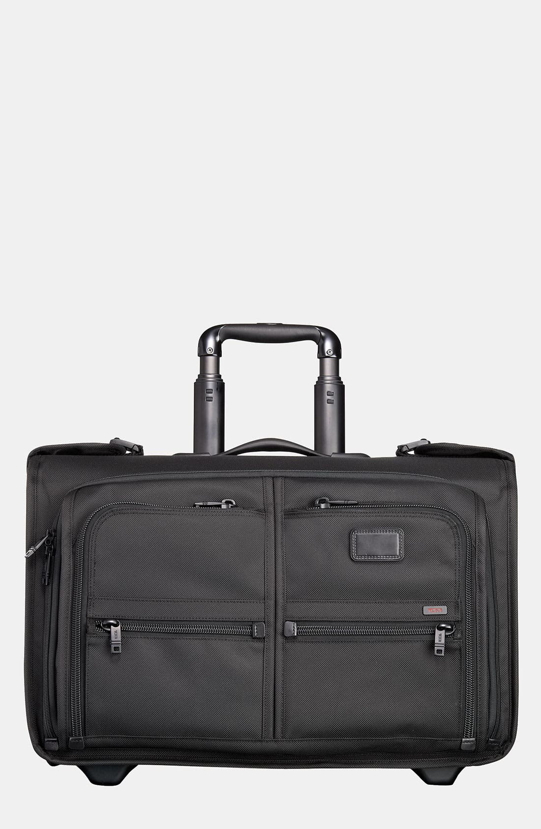 TUMI,                             'Alpha' Wheeled Carry-On Garment Bag,                             Main thumbnail 1, color,                             001