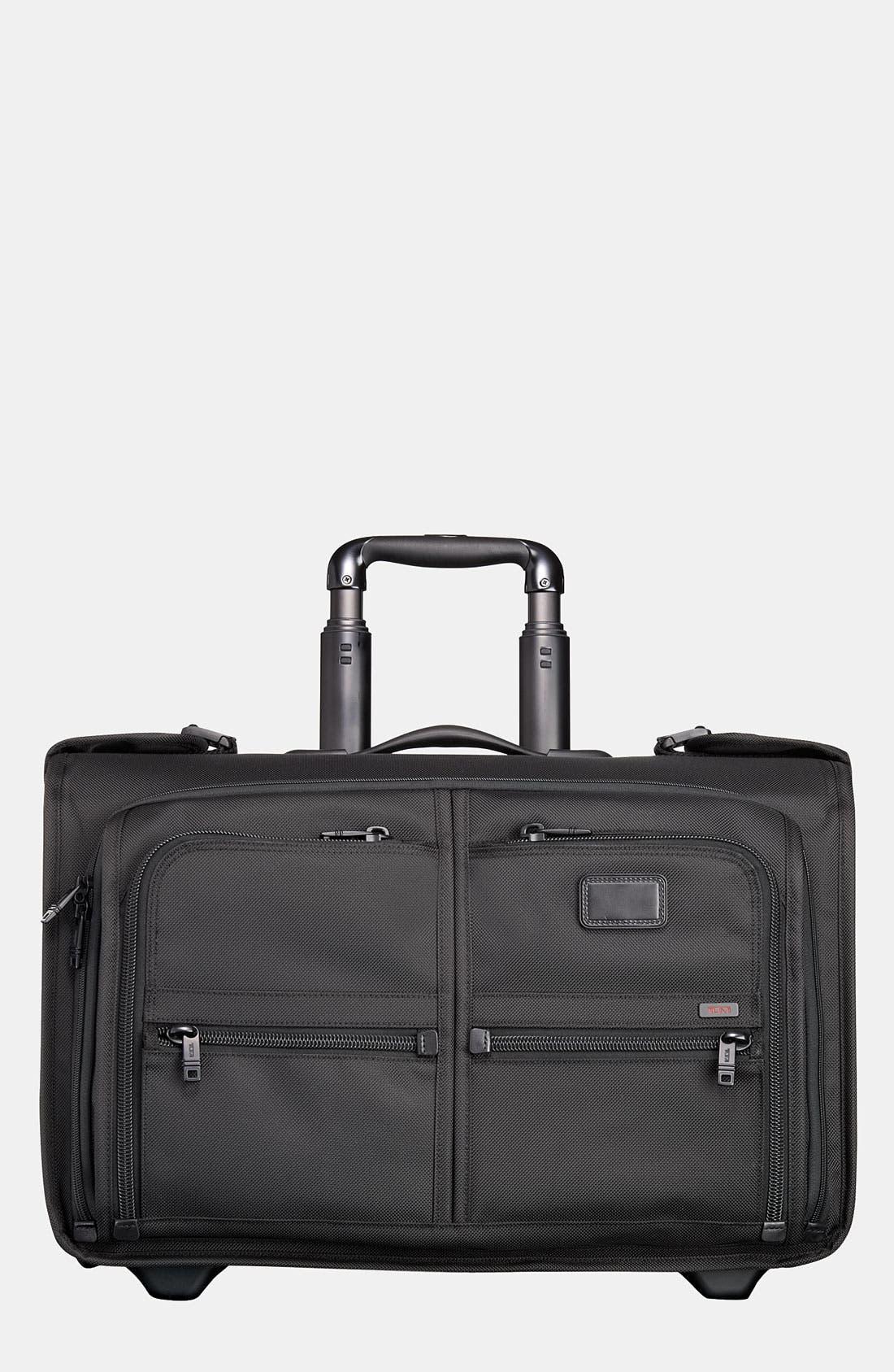 TUMI 'Alpha' Wheeled Carry-On Garment Bag, Main, color, 001