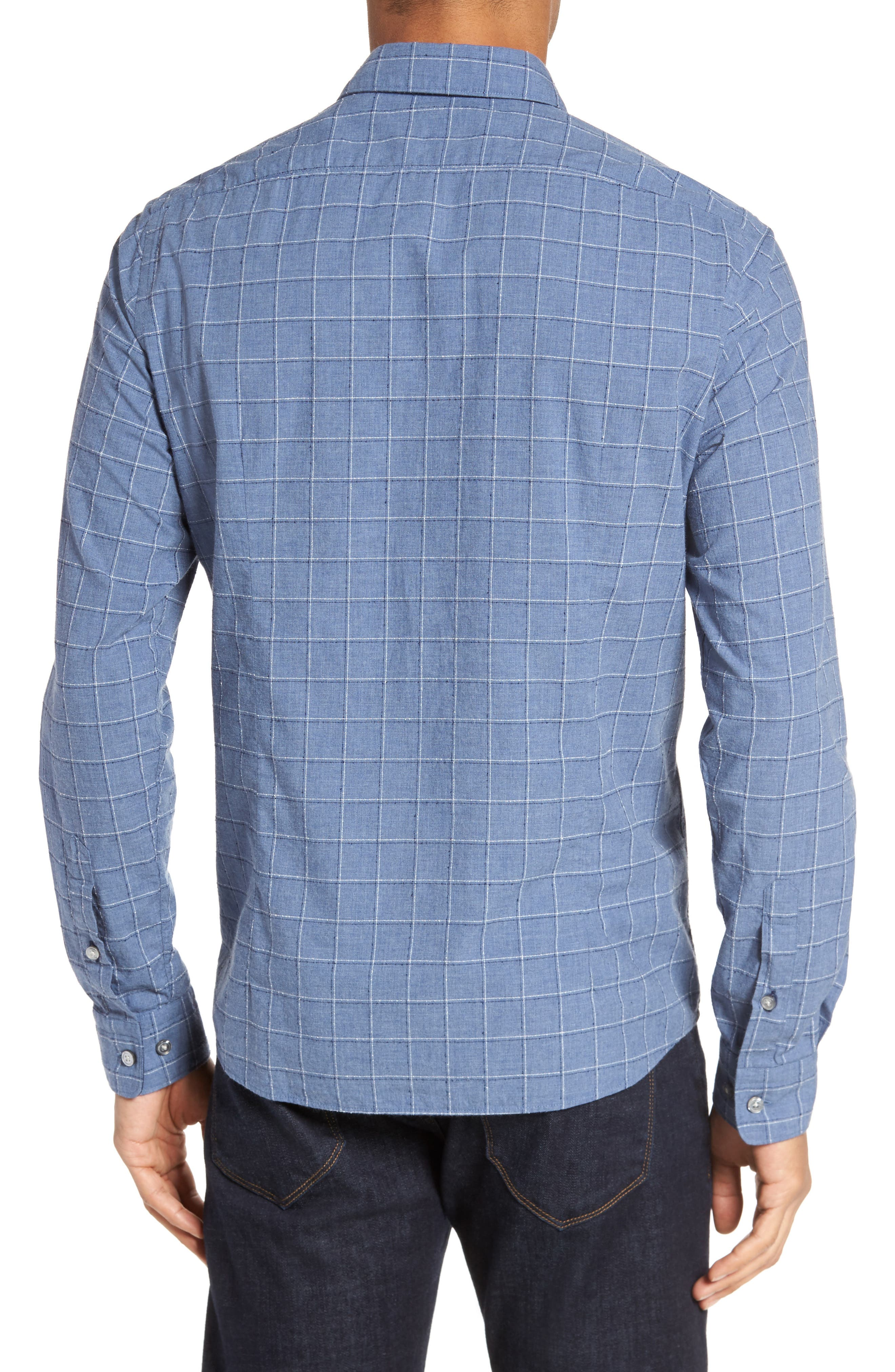 BOSS Lance Slim Fit Check Sport Shirt,                             Alternate thumbnail 2, color,                             489