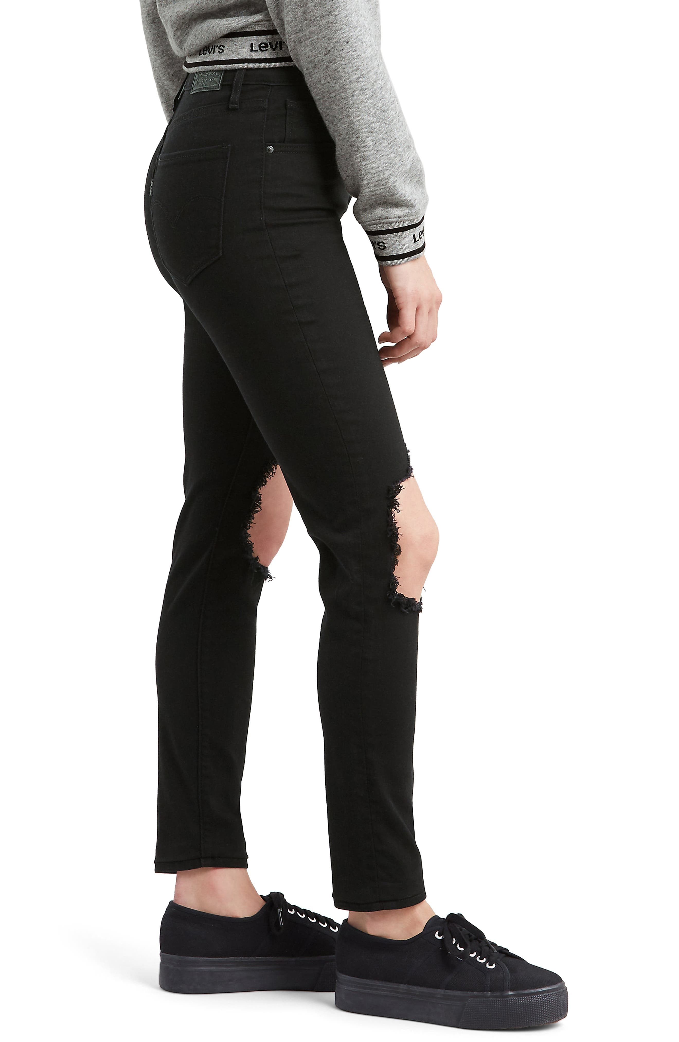 721<sup>™</sup> Ripped High Waist Skinny Jeans,                             Alternate thumbnail 3, color,                             LOOKER