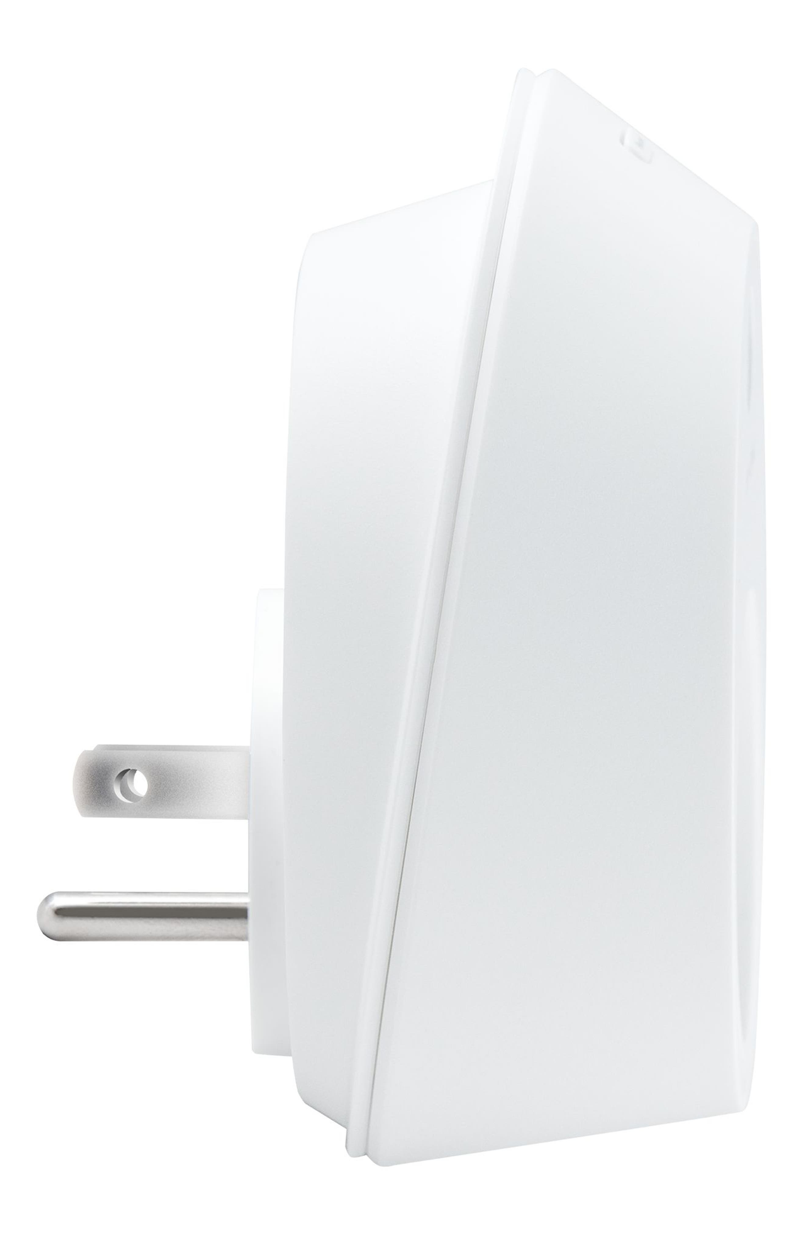 Smart Wi-Fi Outlet Plug,                             Alternate thumbnail 2, color,                             WHITE