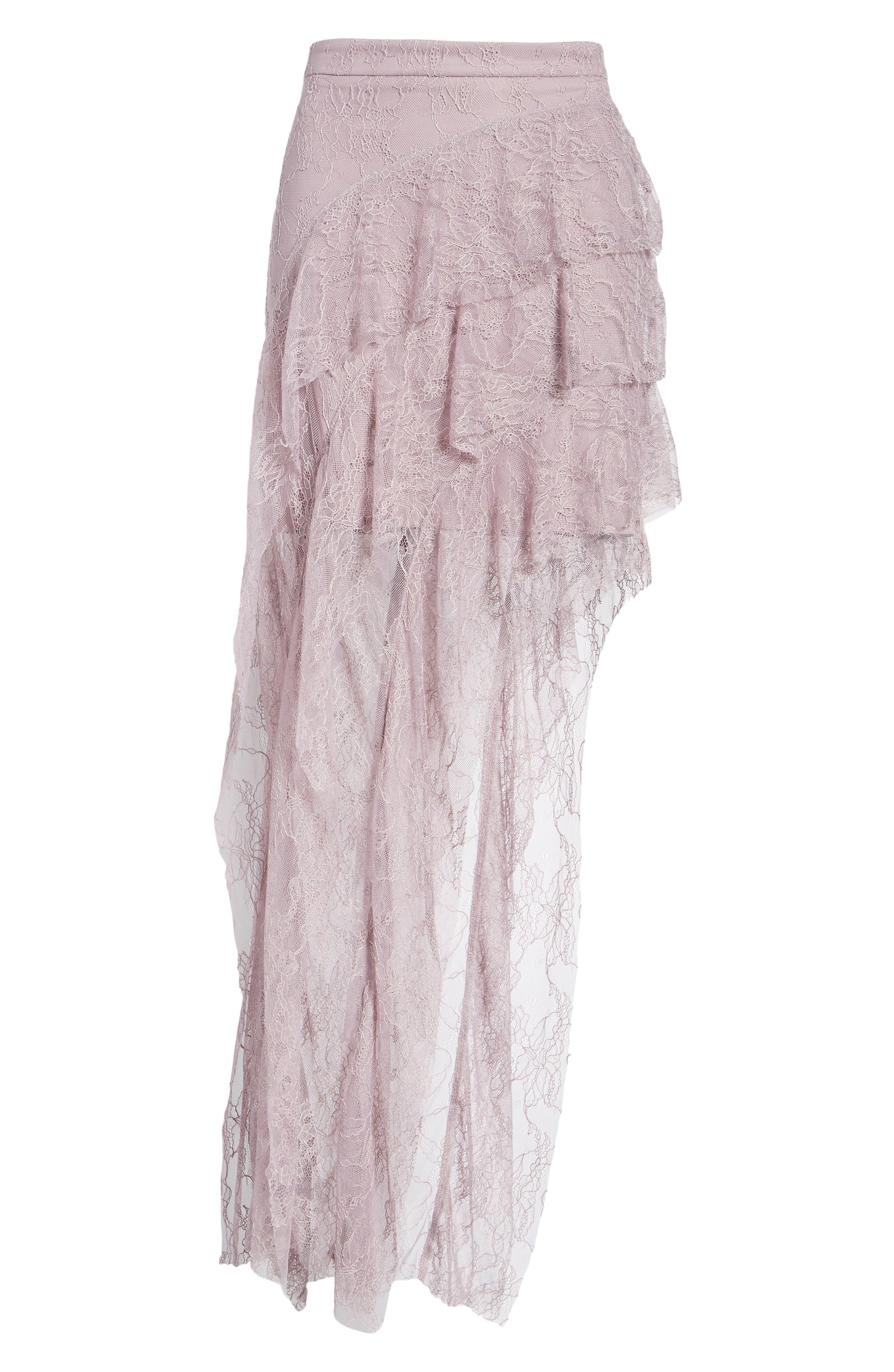 Emilia Ruffle Maxi Skirt,                             Alternate thumbnail 6, color,                             001