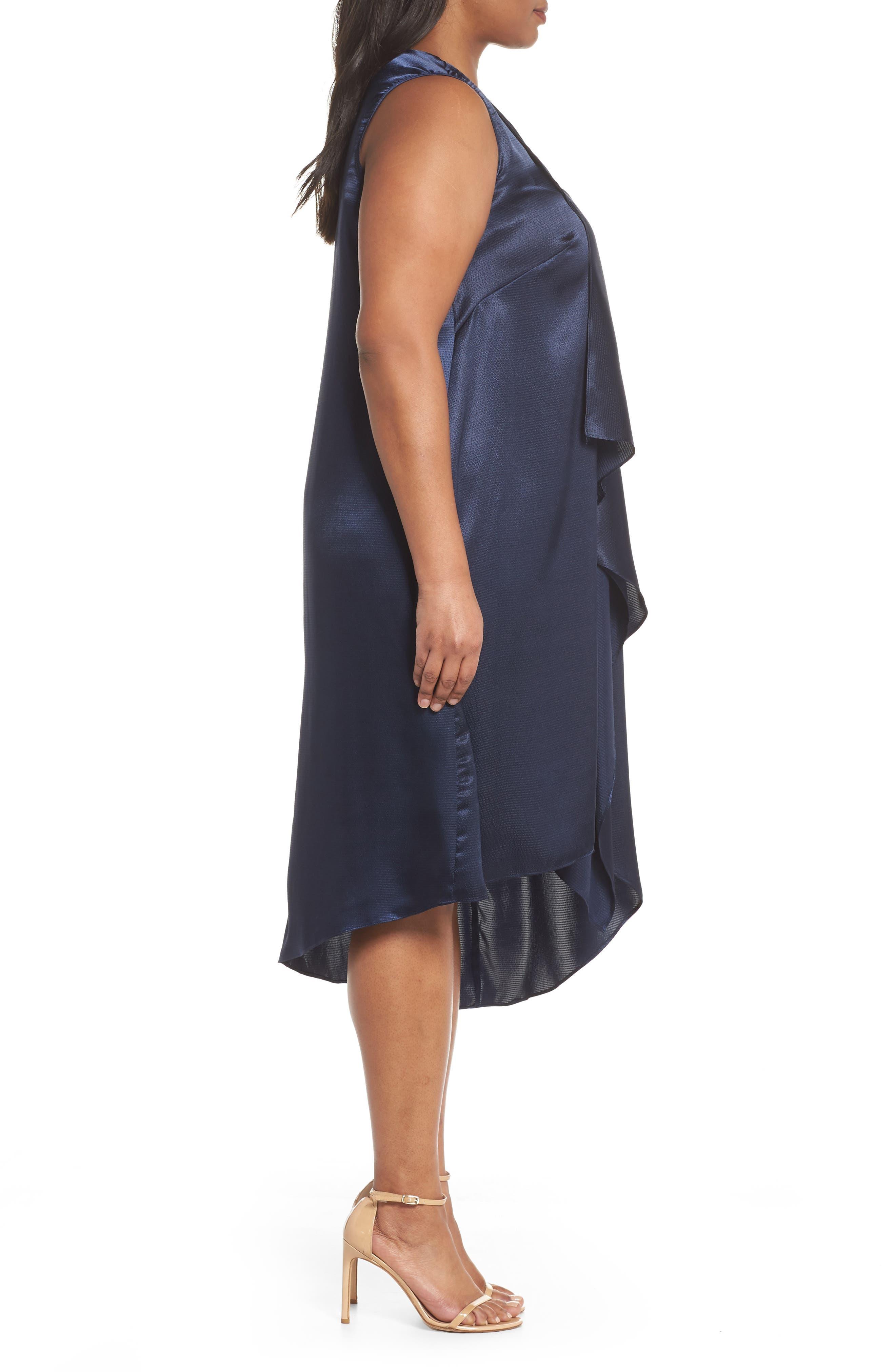 Asymmetrical Trapeze Dress,                             Alternate thumbnail 3, color,