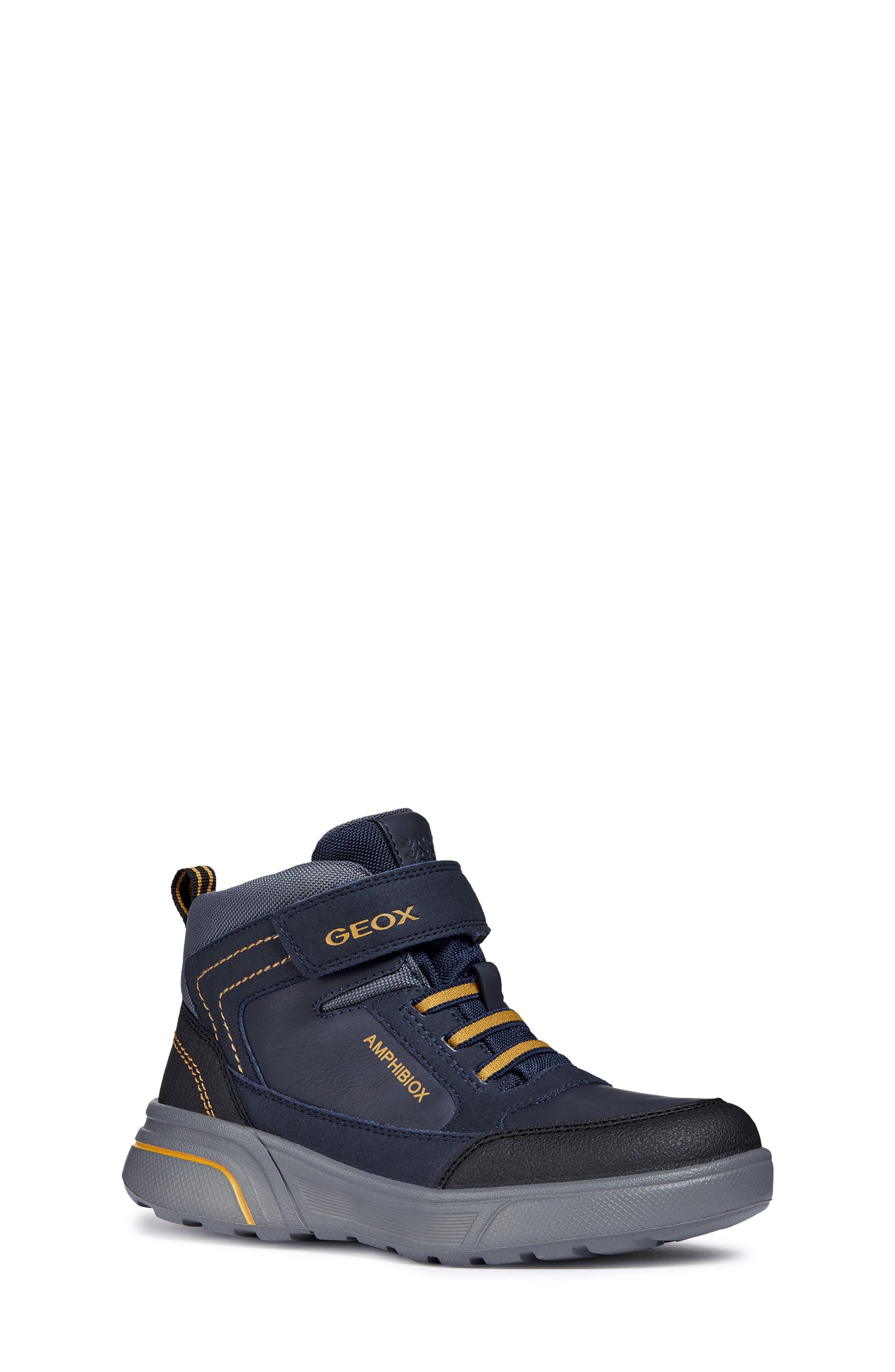 Sveggen ABX Waterproof Sneaker,                             Main thumbnail 1, color,                             NAVY/YELLOW