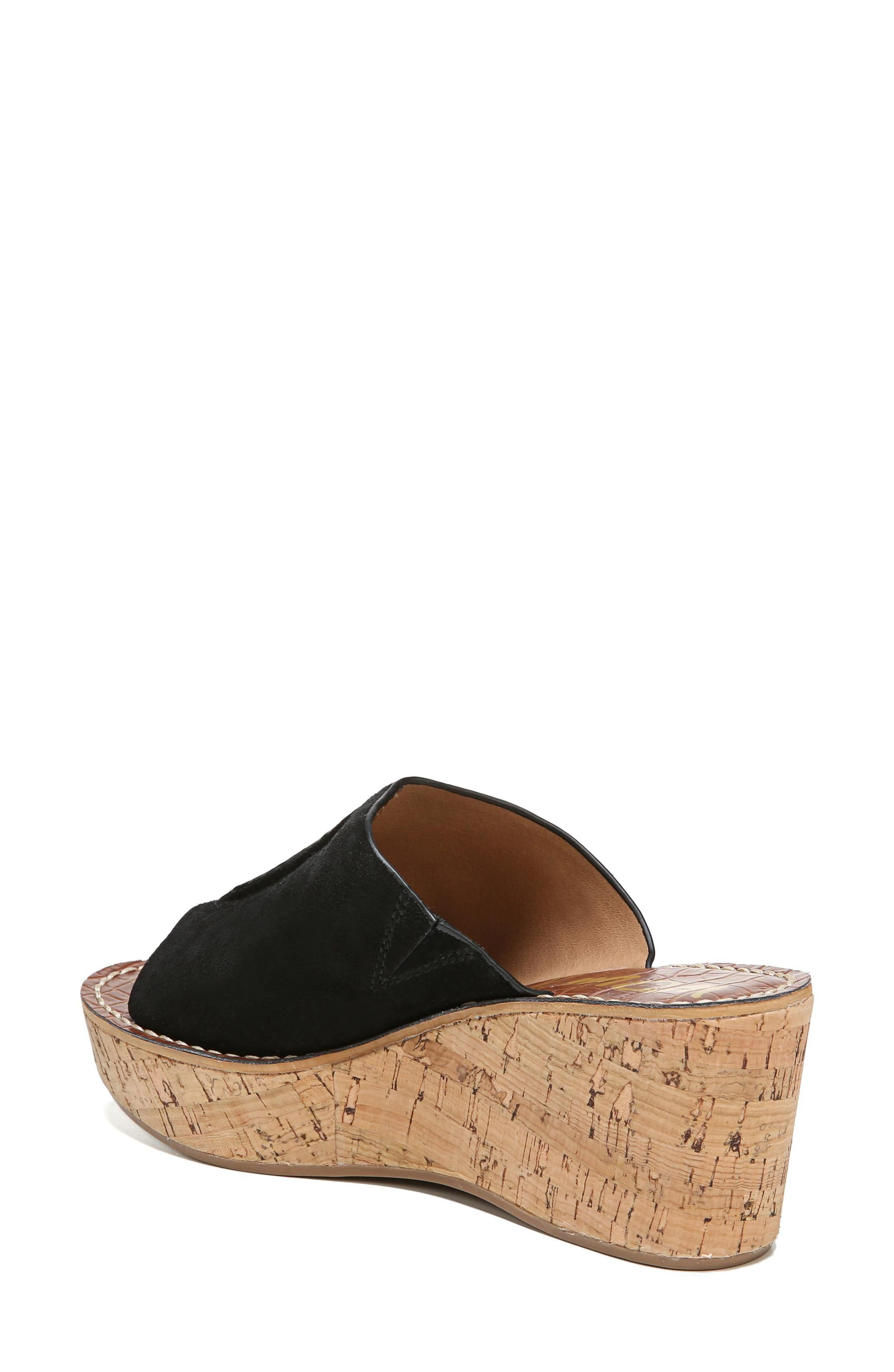 SAM EDELMAN,                             Ranger Platform Sandal,                             Alternate thumbnail 2, color,                             BLACK SUEDE