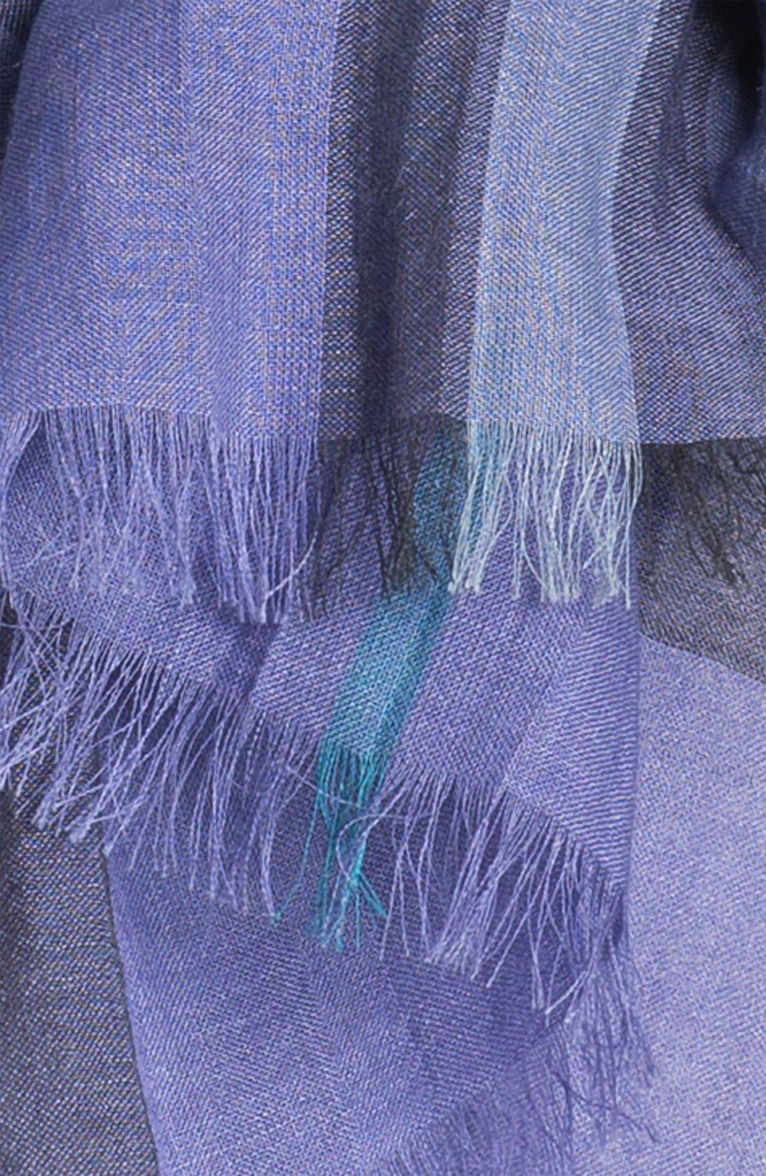Giant Check Print Wool & Silk Scarf,                             Alternate thumbnail 88, color,