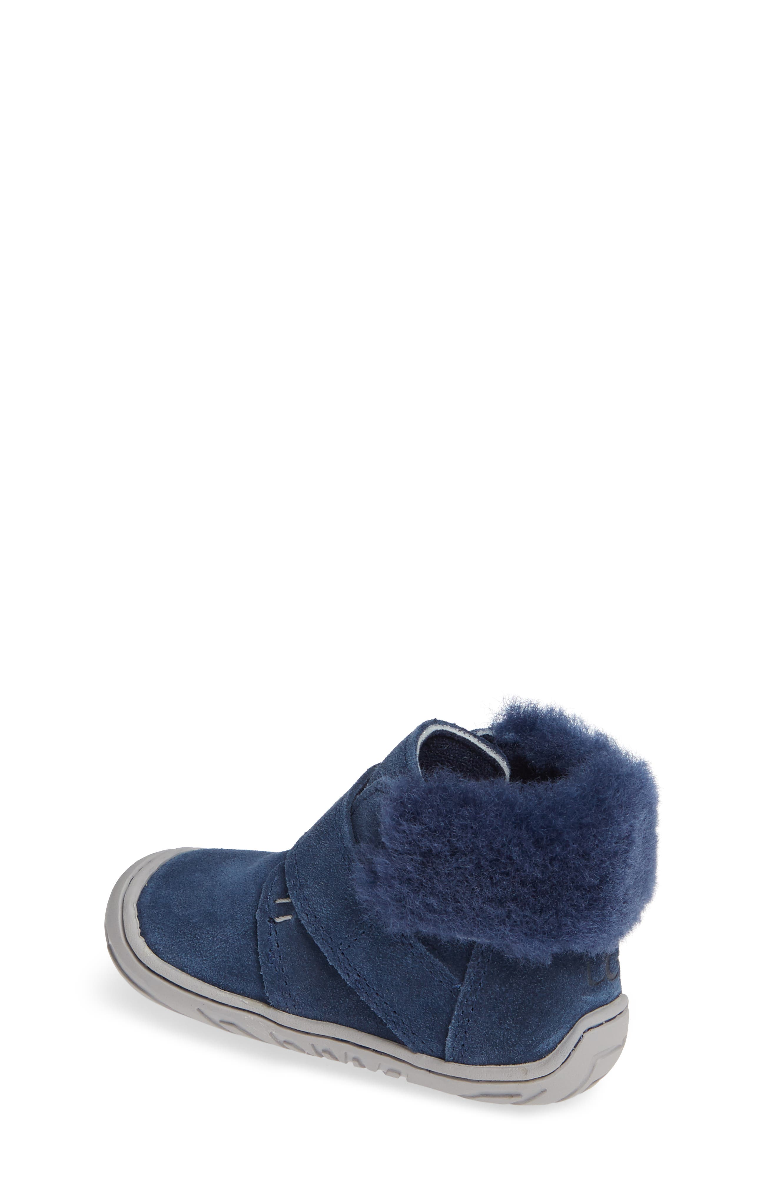 Jorgen Genuine Shearling Bootie,                             Alternate thumbnail 2, color,                             NEW NAVY
