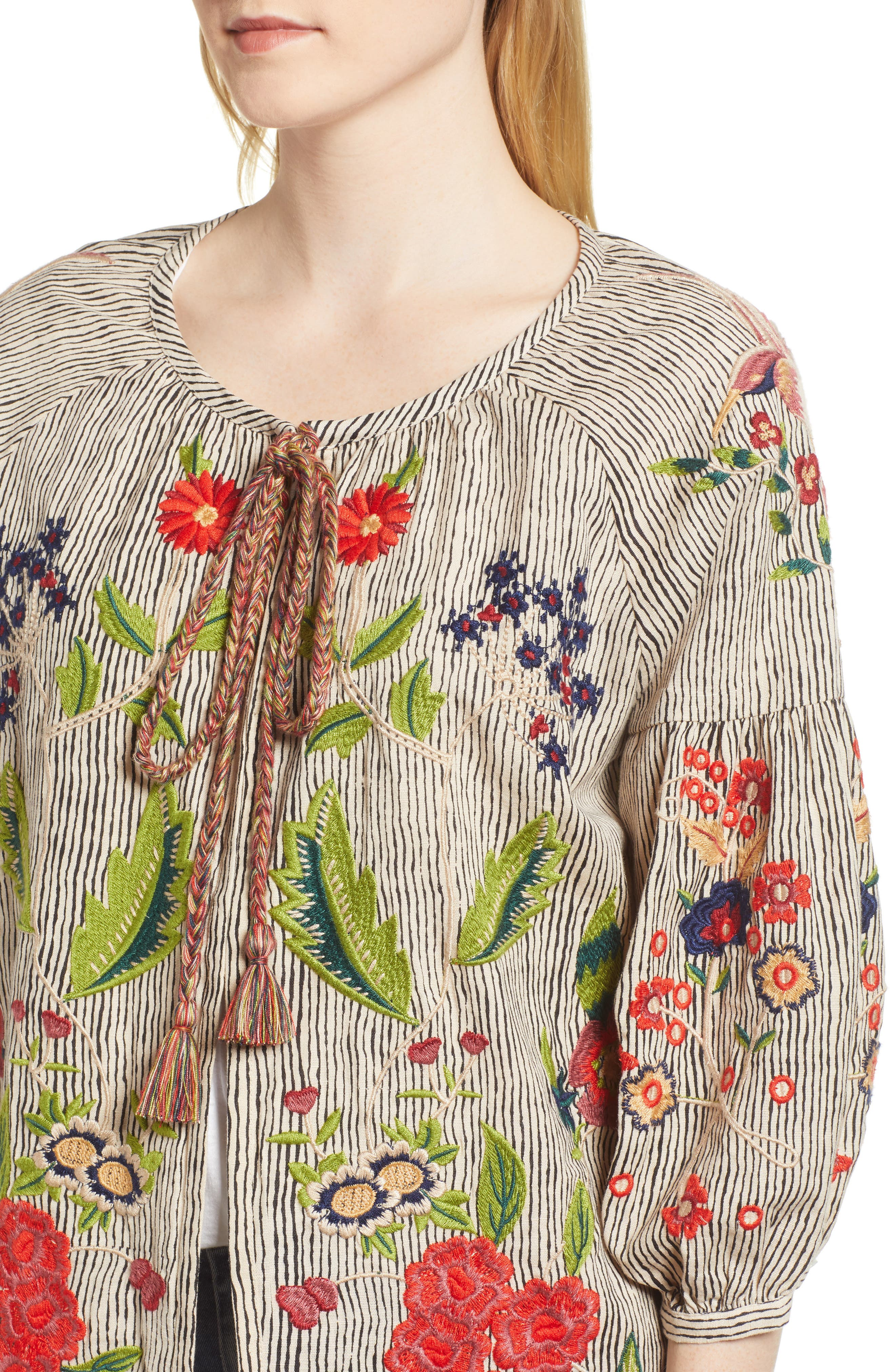 Embroidered Stripe Jacket,                             Alternate thumbnail 4, color,                             296