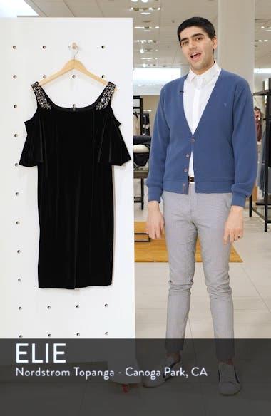 Velvet Cold Shoulder Sheath Dress, sales video thumbnail