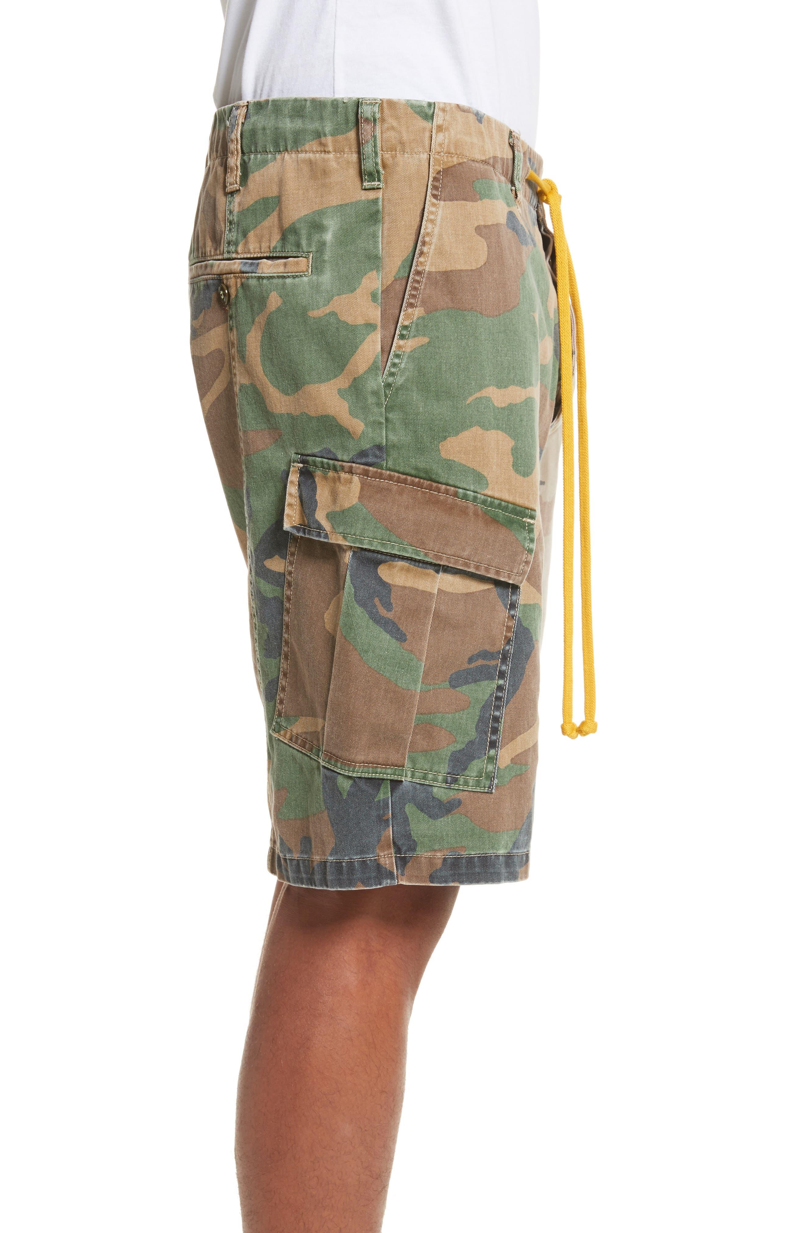 Anasi Camo Cargo Shorts,                             Alternate thumbnail 3, color,                             247