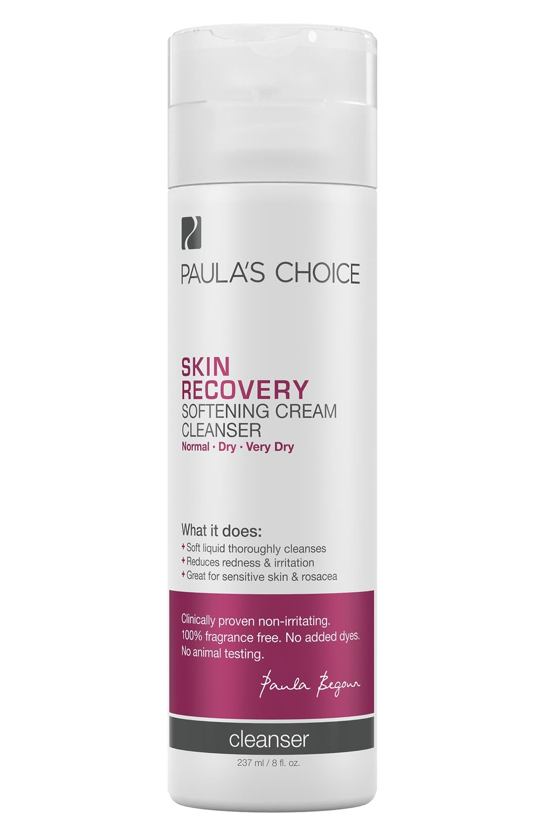 Skin Recovery Softening Cream Cleanser,                             Main thumbnail 1, color,                             NO COLOR