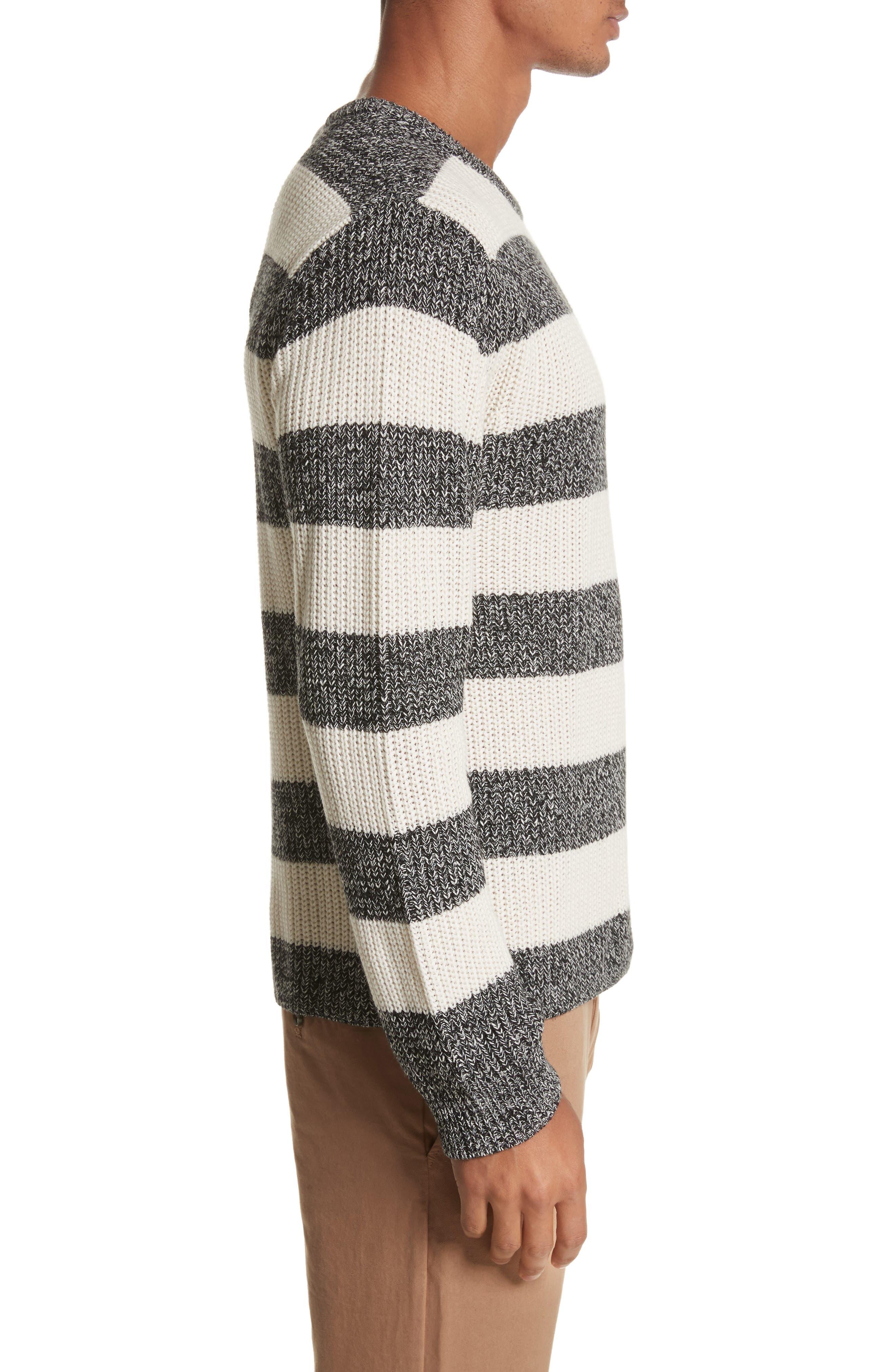 Lee Stripe Crewneck Sweater,                             Alternate thumbnail 3, color,                             101