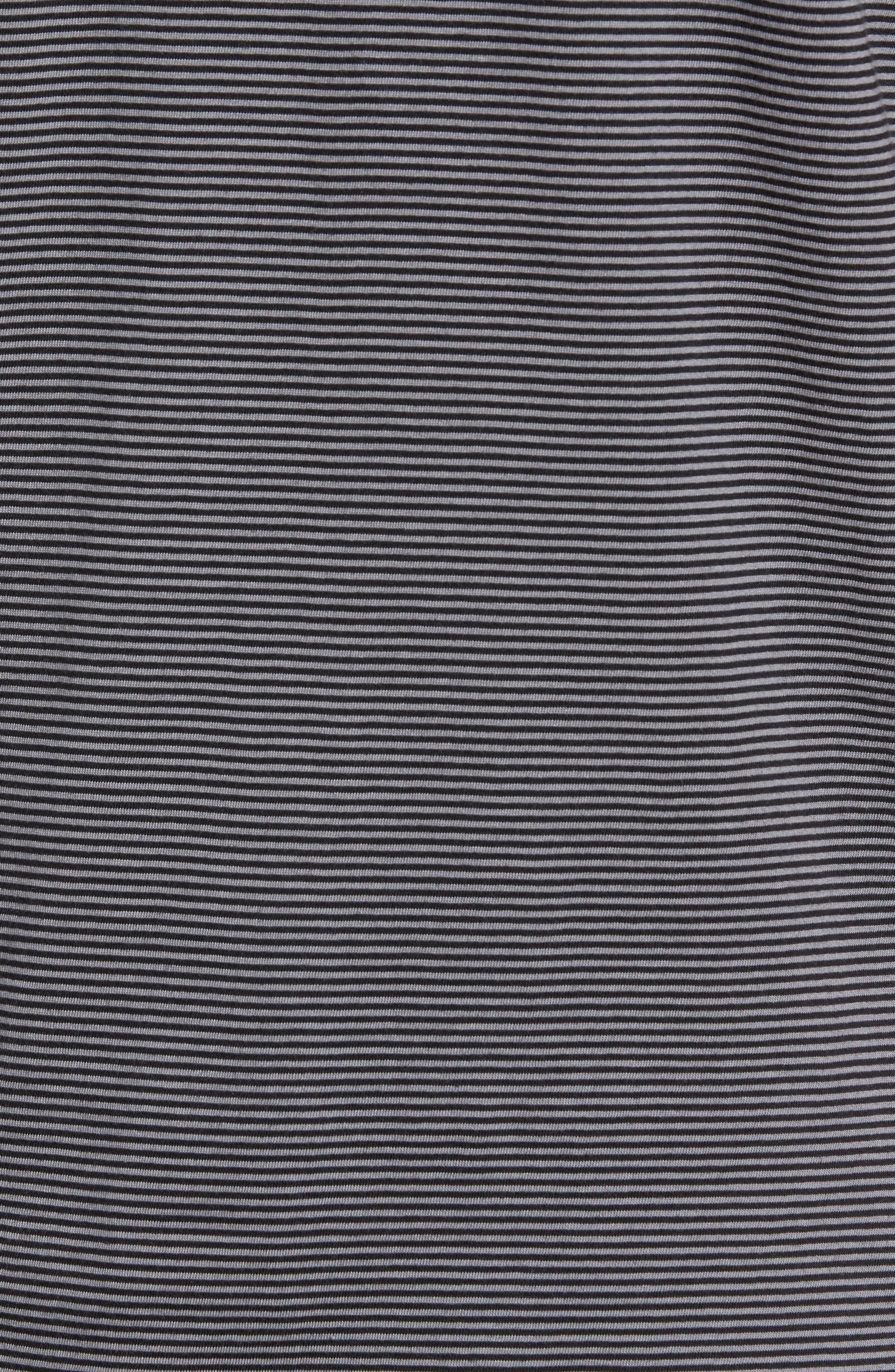 Gilmore Stripe Jersey Polo,                             Alternate thumbnail 5, color,                             BLACK