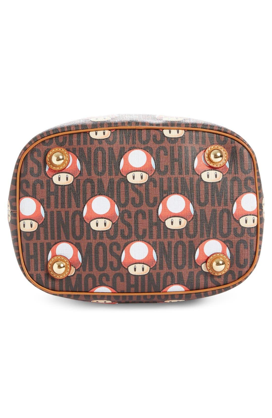MOSCHINO,                             'Nintendo Super Mario Bros.<sup>®</sup>' Bucket Bag,                             Alternate thumbnail 4, color,                             200