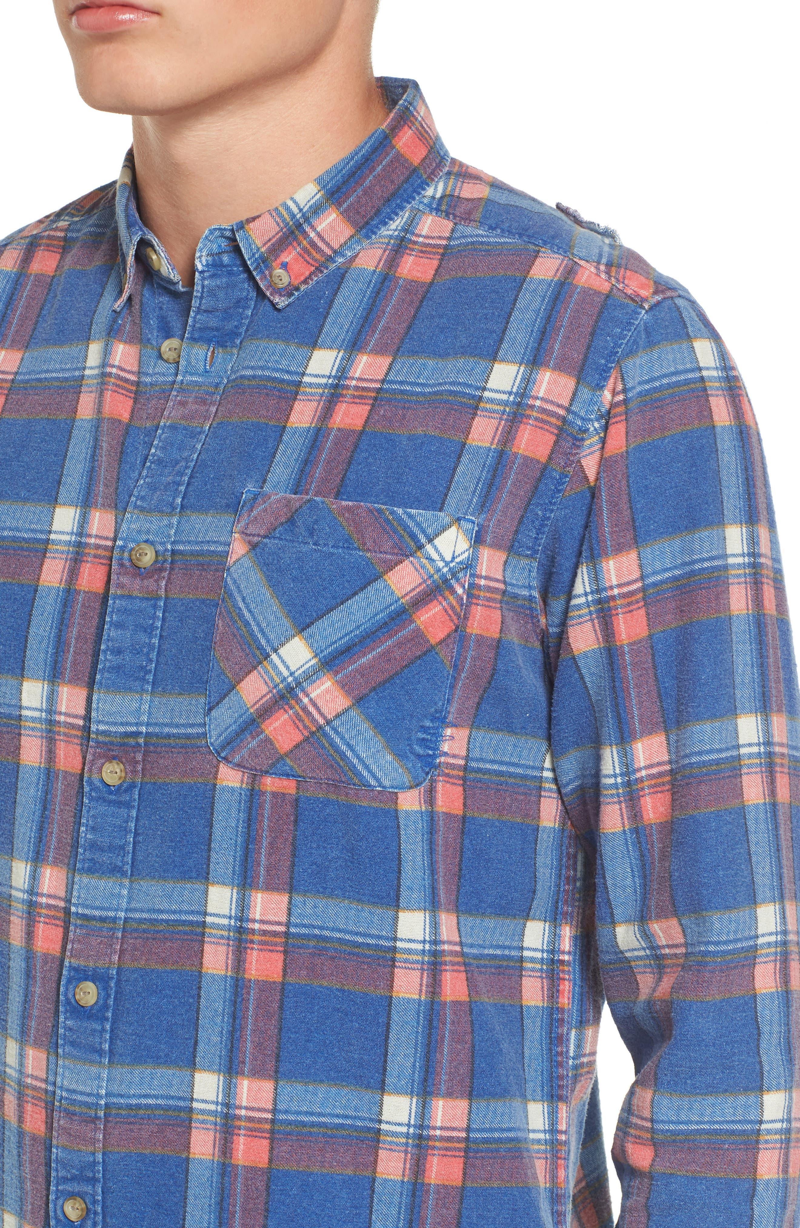 x Kevin Long Plaid Shirt,                             Alternate thumbnail 4, color,                             462