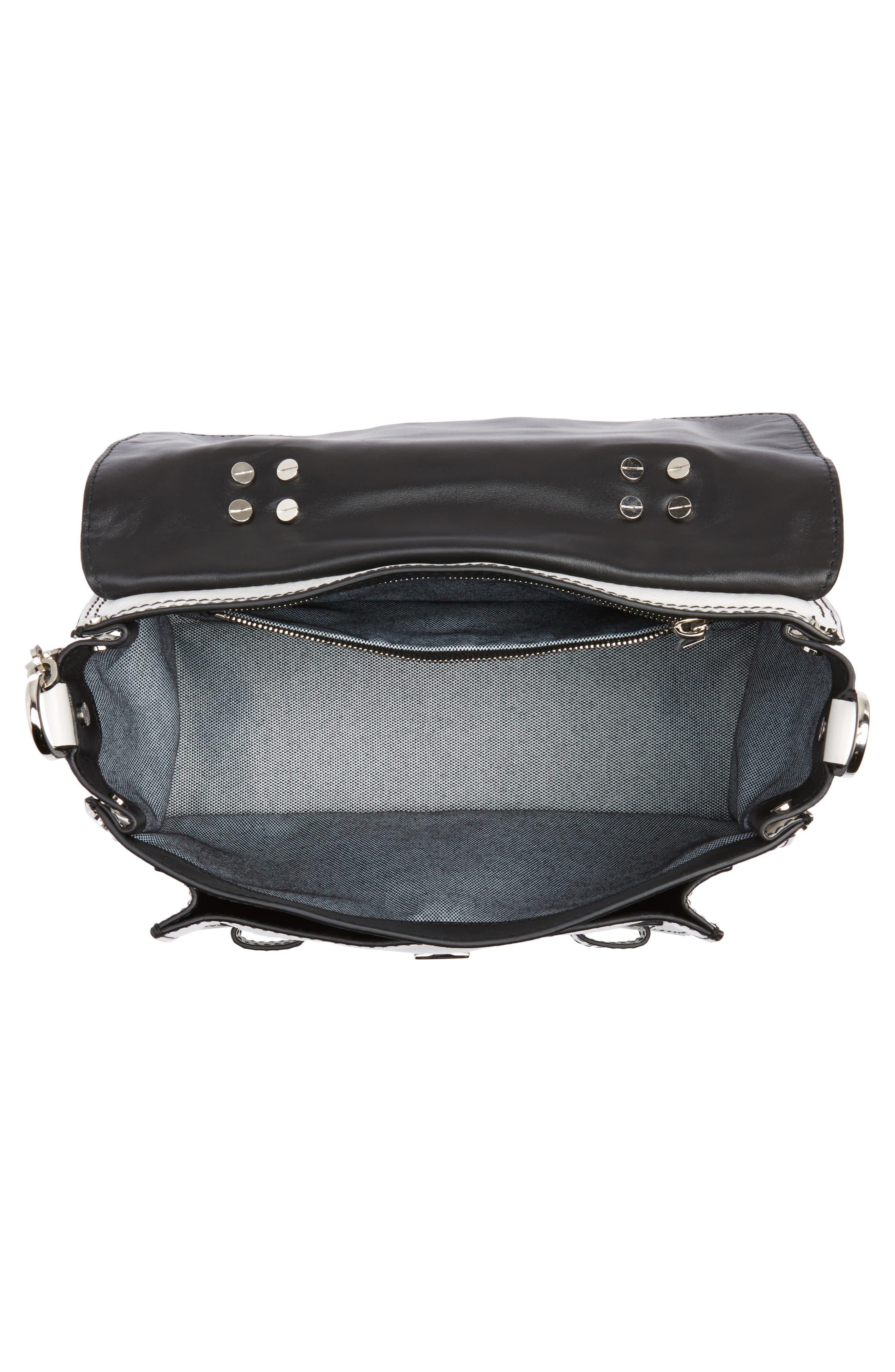 Tiny PS1 Calfskin Leather Satchel with Novelty Shoulder/Crossbody Strap,                             Alternate thumbnail 4, color,                             102