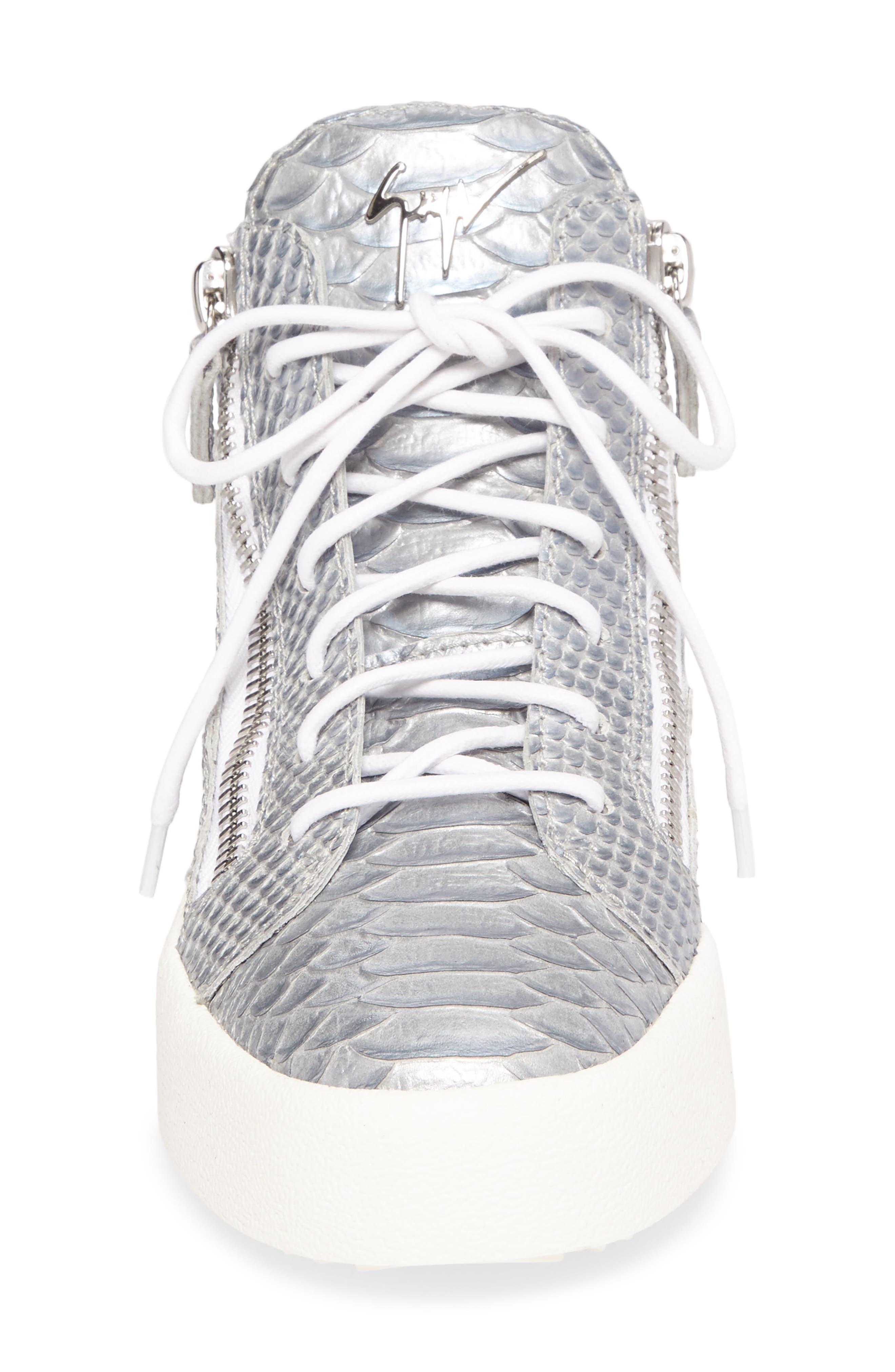 May London Mid Top Sneaker,                             Alternate thumbnail 4, color,                             020