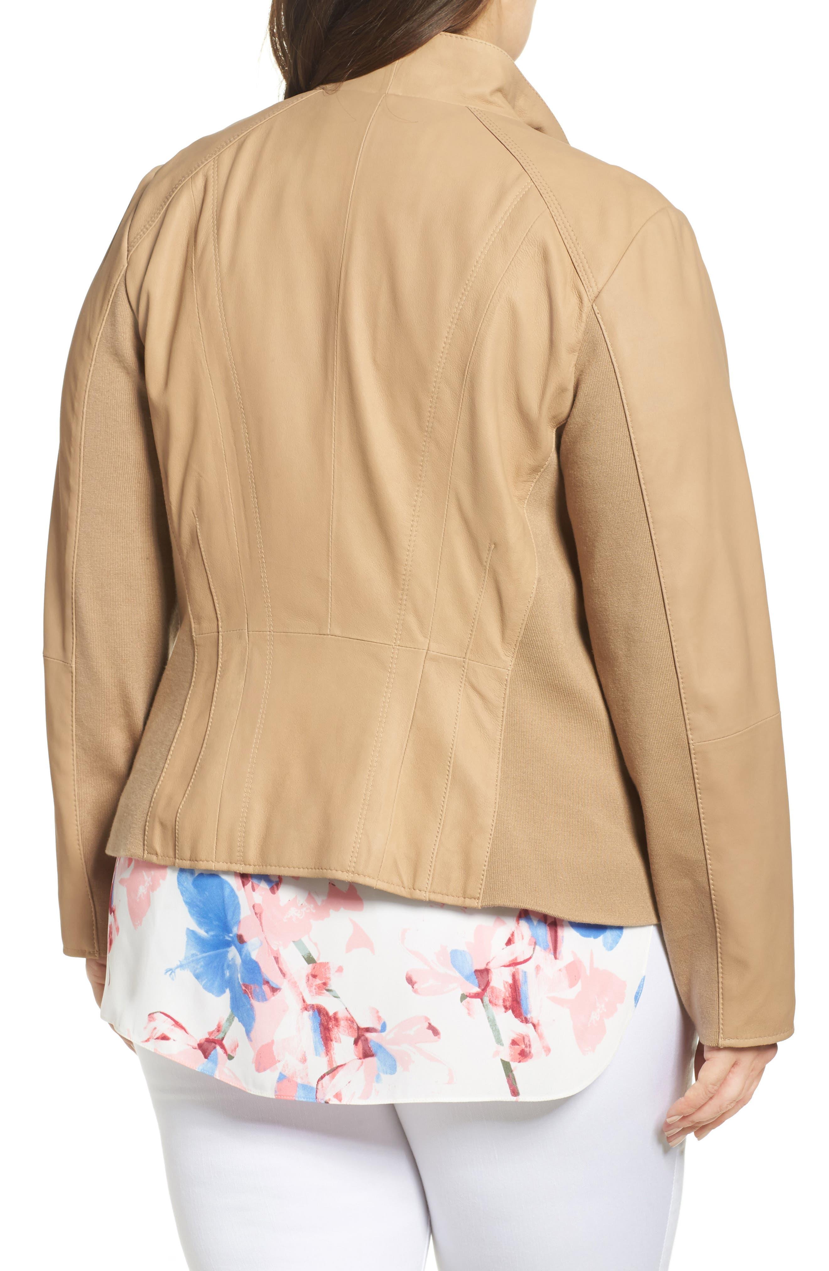 Felicia Leather Moto Jacket,                             Alternate thumbnail 2, color,