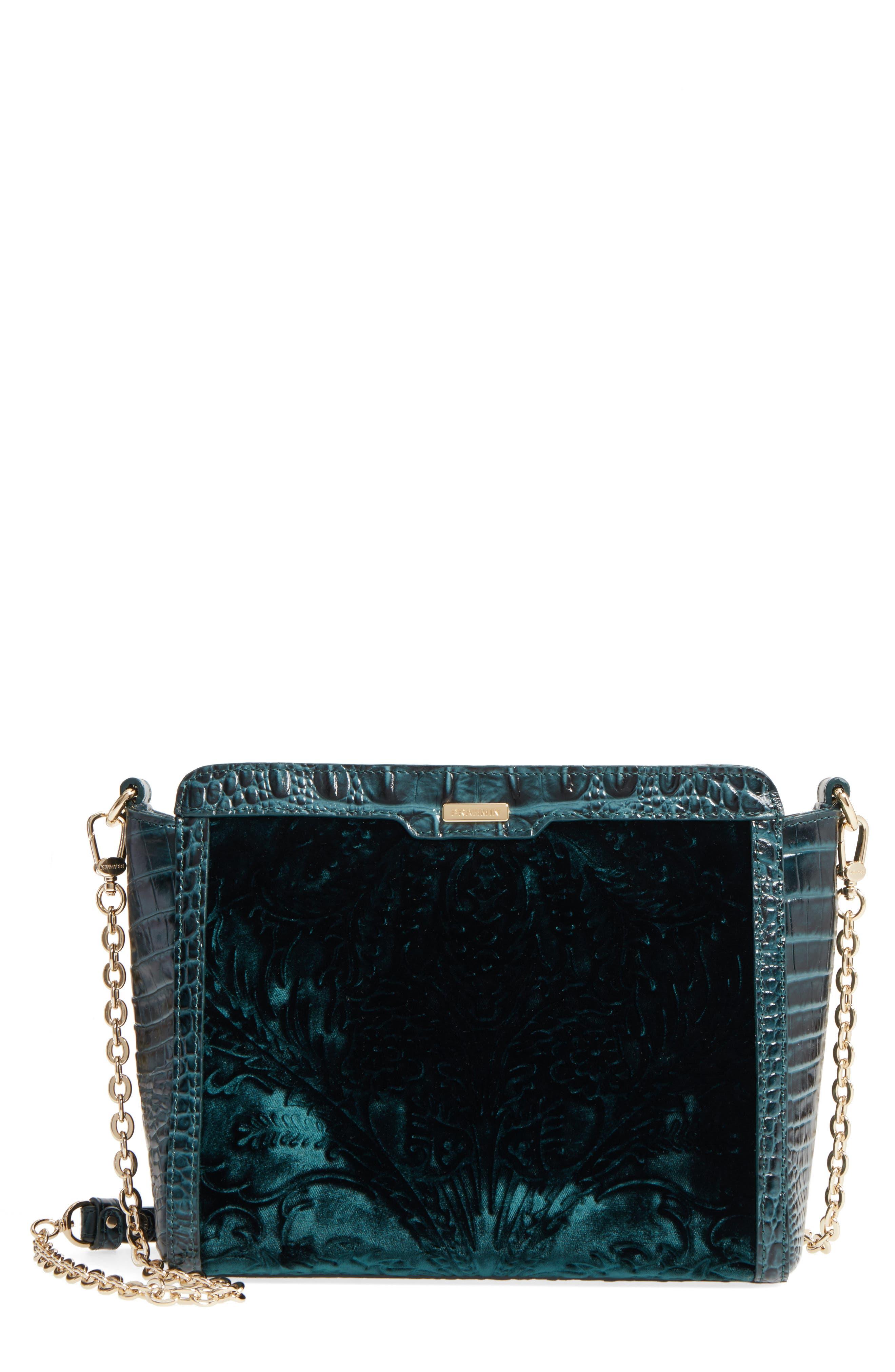 Ivy Cellini Carrie Embossed Velvet Crossbody Bag,                             Main thumbnail 1, color,                             353
