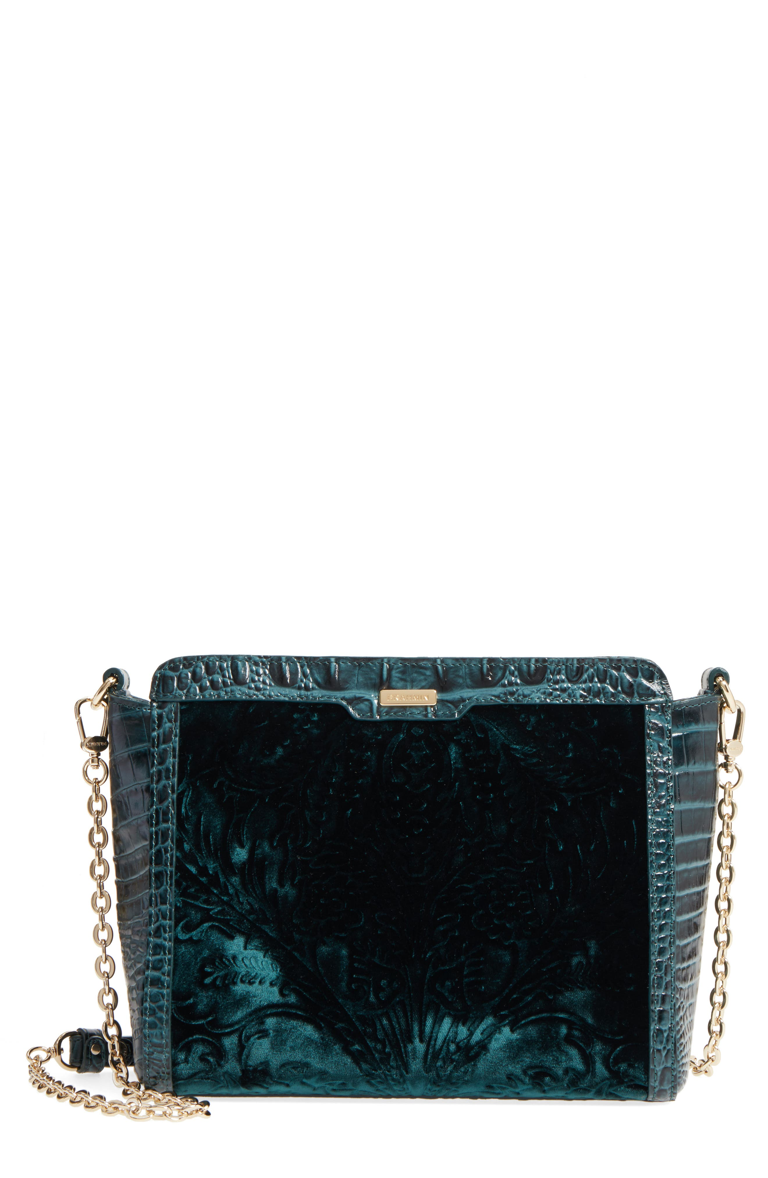 Ivy Cellini Carrie Embossed Velvet Crossbody Bag,                         Main,                         color, 353
