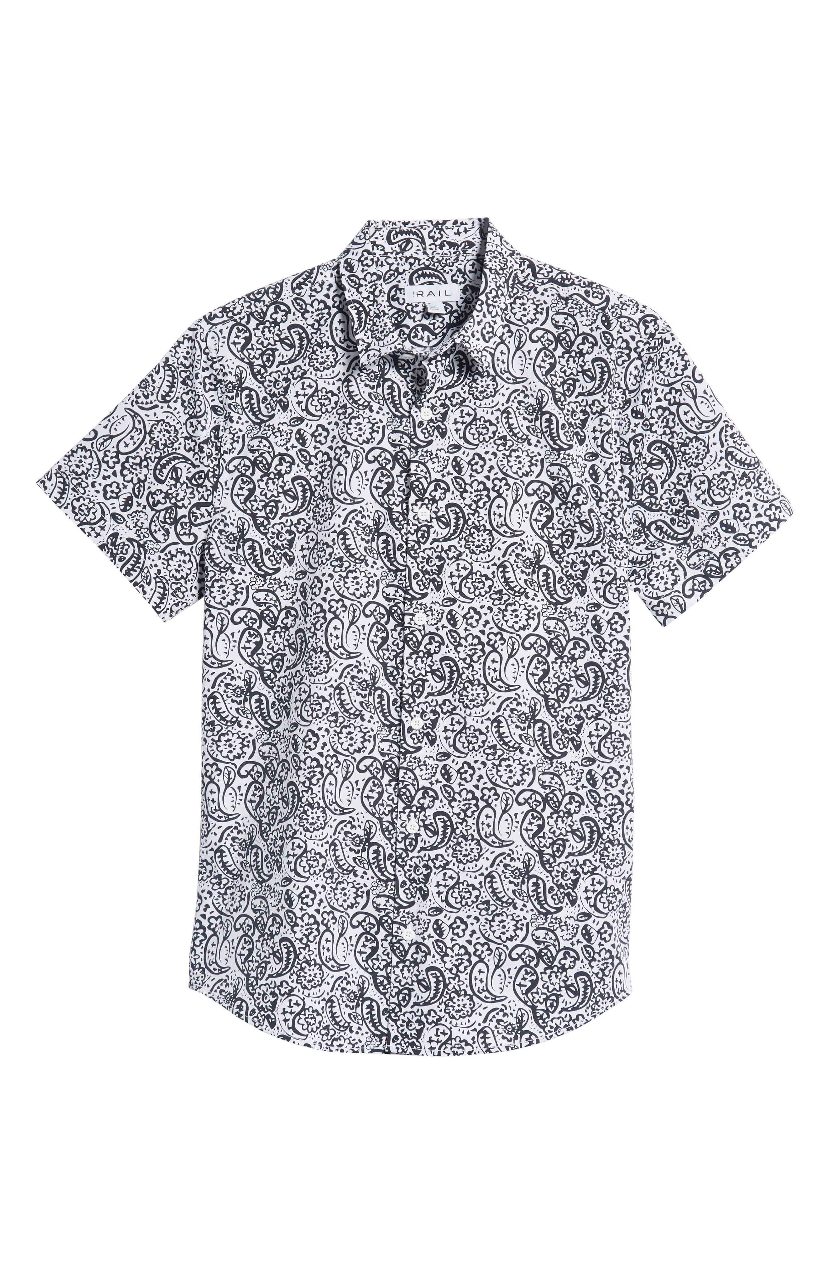 Paisley Print Woven Shirt,                             Alternate thumbnail 6, color,                             100