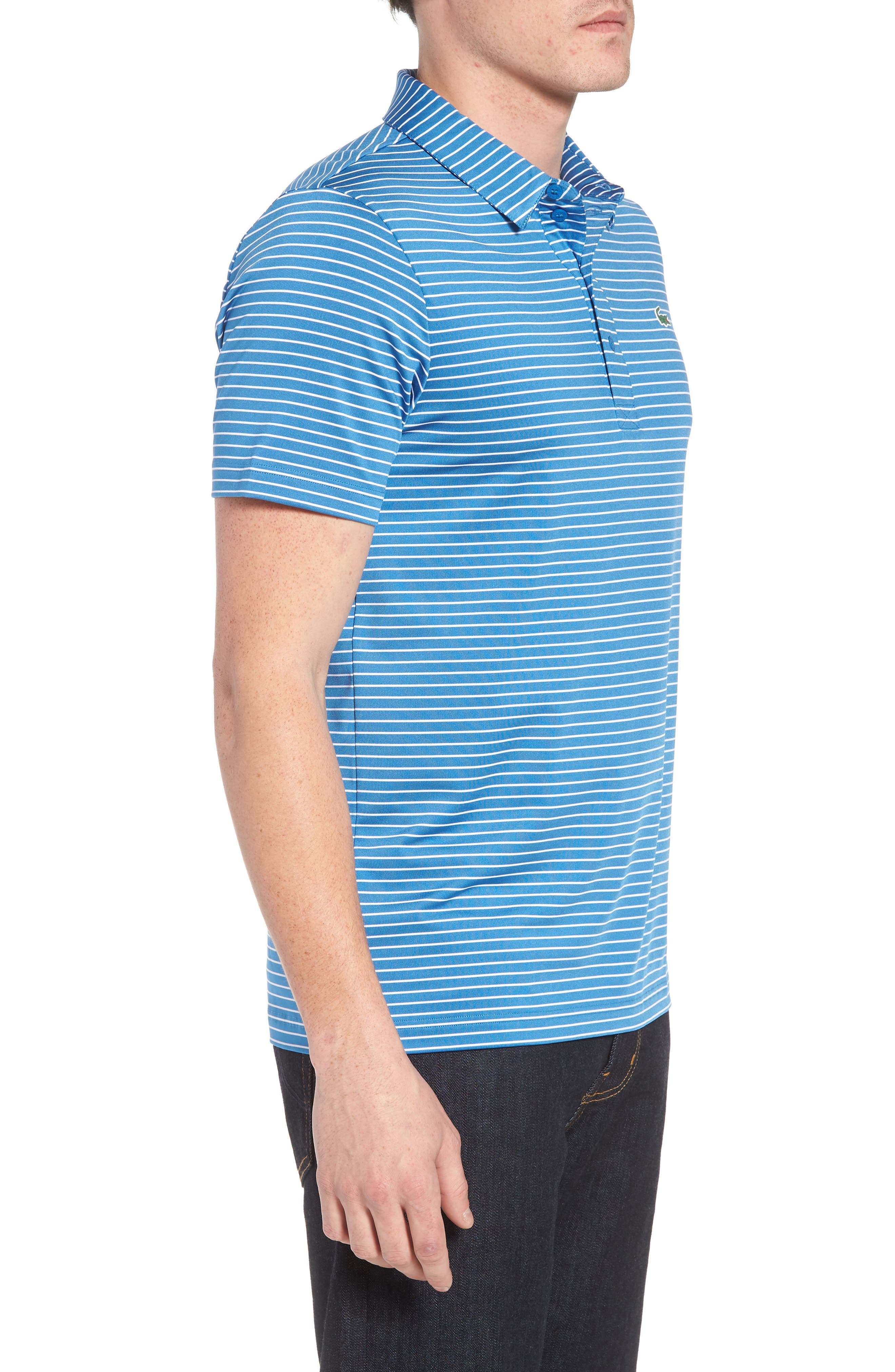 Stripe Polo,                             Alternate thumbnail 3, color,                             100