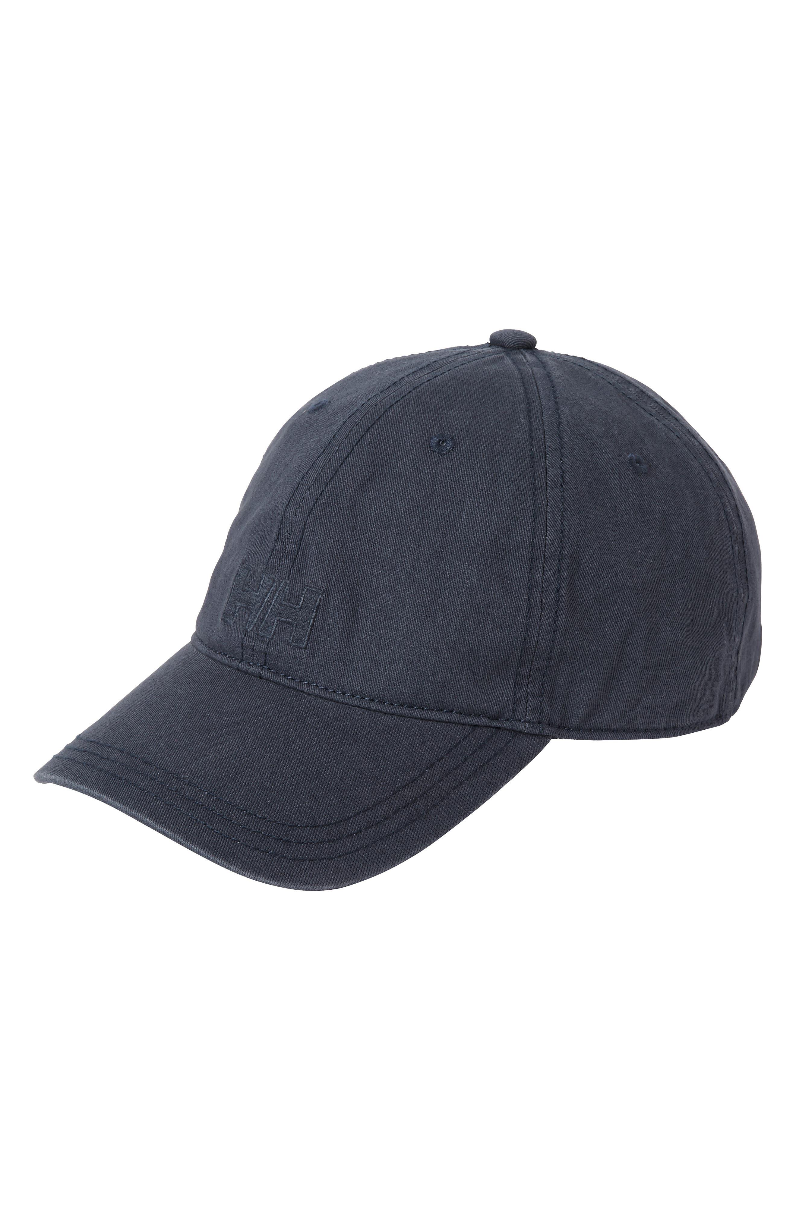 HELLY HANSEN Logo Baseball Cap - Grey in Graphite Blue