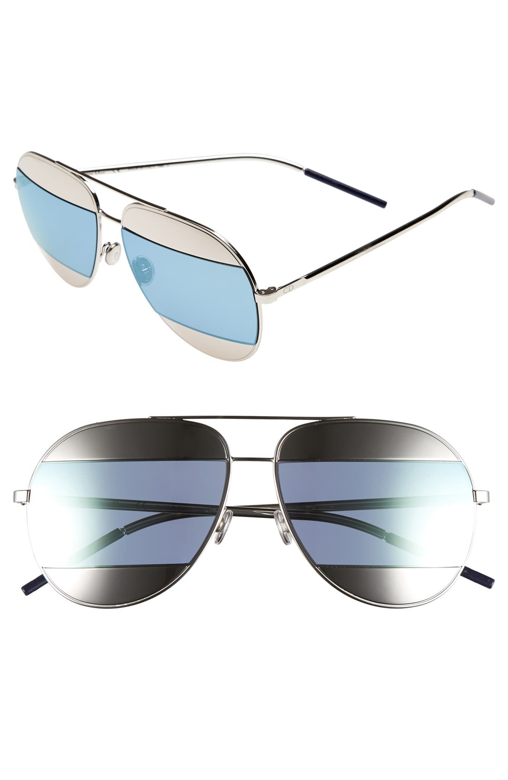 1ca10af209e Dior Split 59mm Aviator Sunglasses