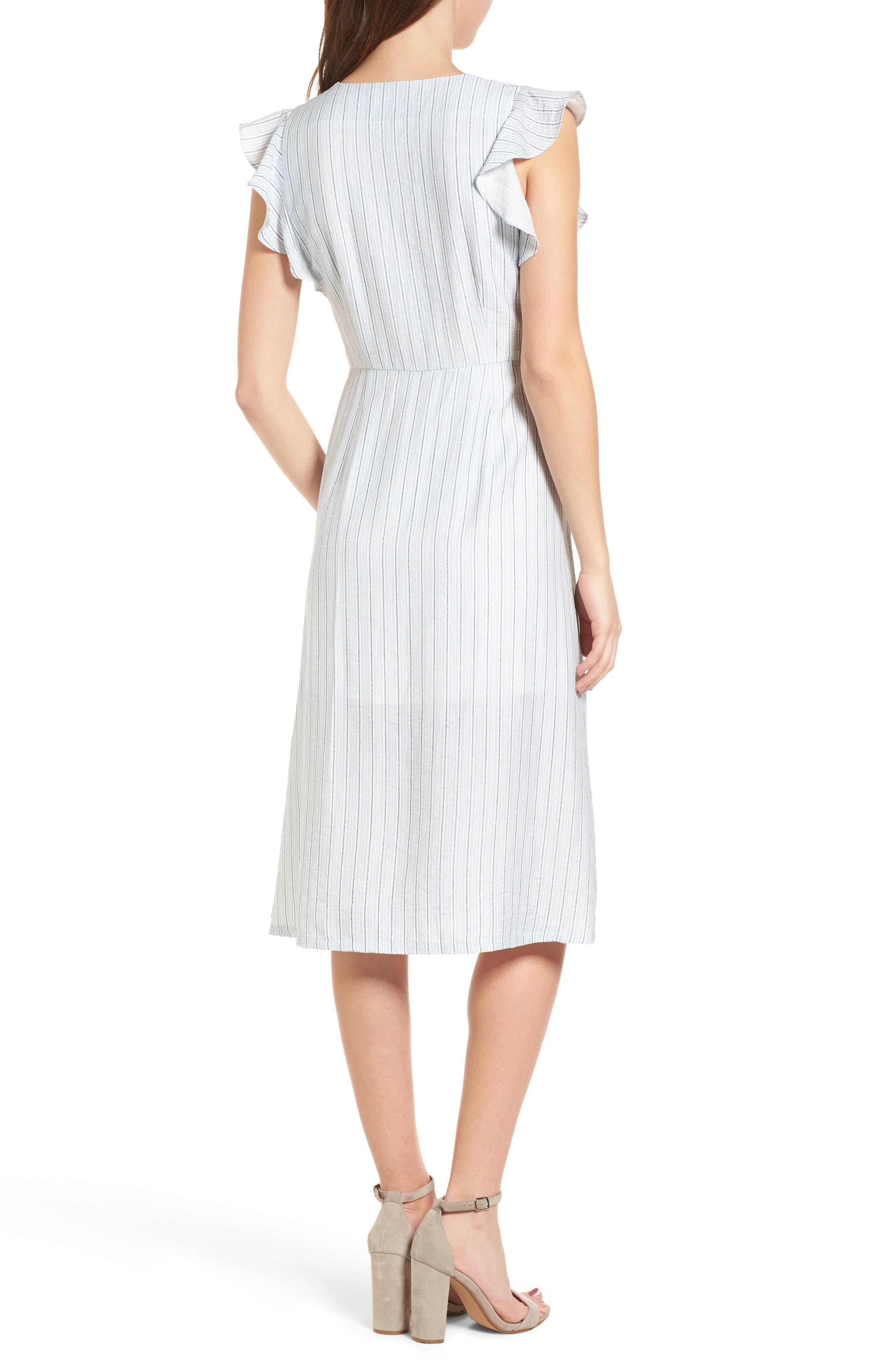 Button Front Midi Dress,                             Alternate thumbnail 2, color,                             400