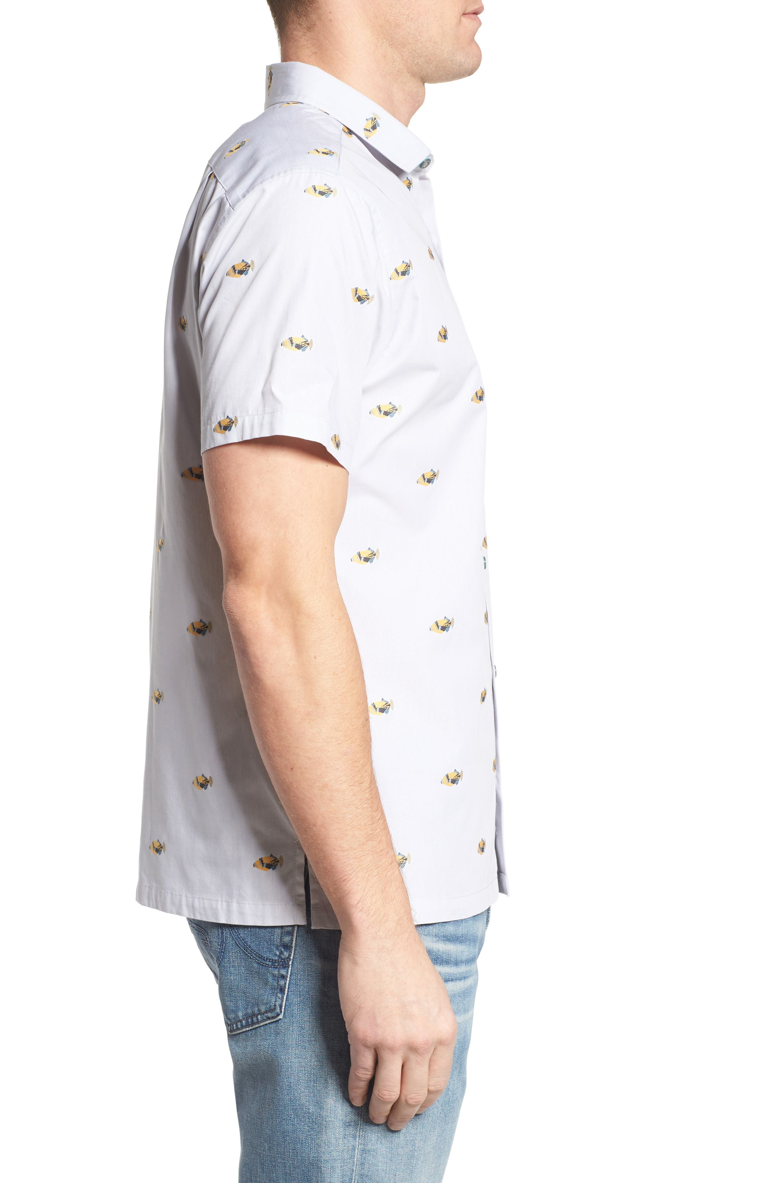 1Humu 2Humu Embroidered Sport Shirt,                             Alternate thumbnail 3, color,