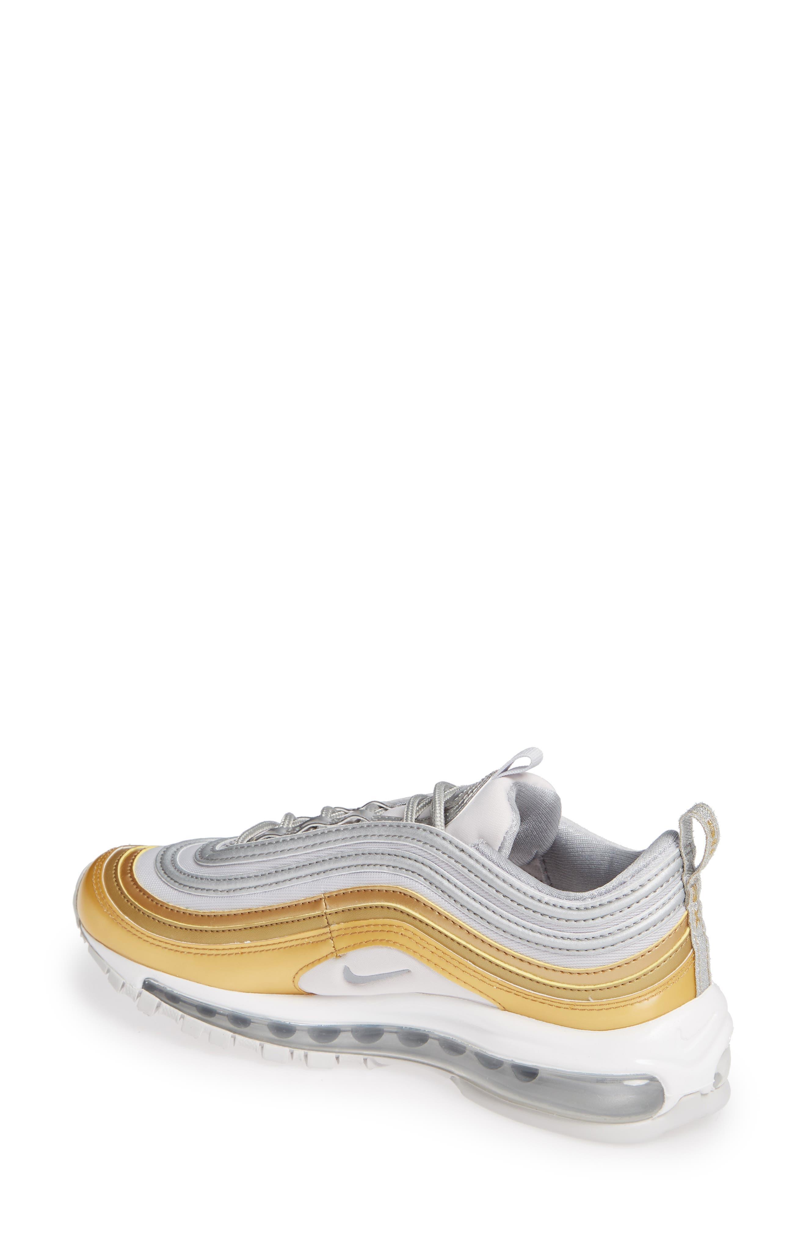Air Max 97 SE Sneaker,                             Alternate thumbnail 2, color,                             GREY/ METALLIC SILVER- GOLD