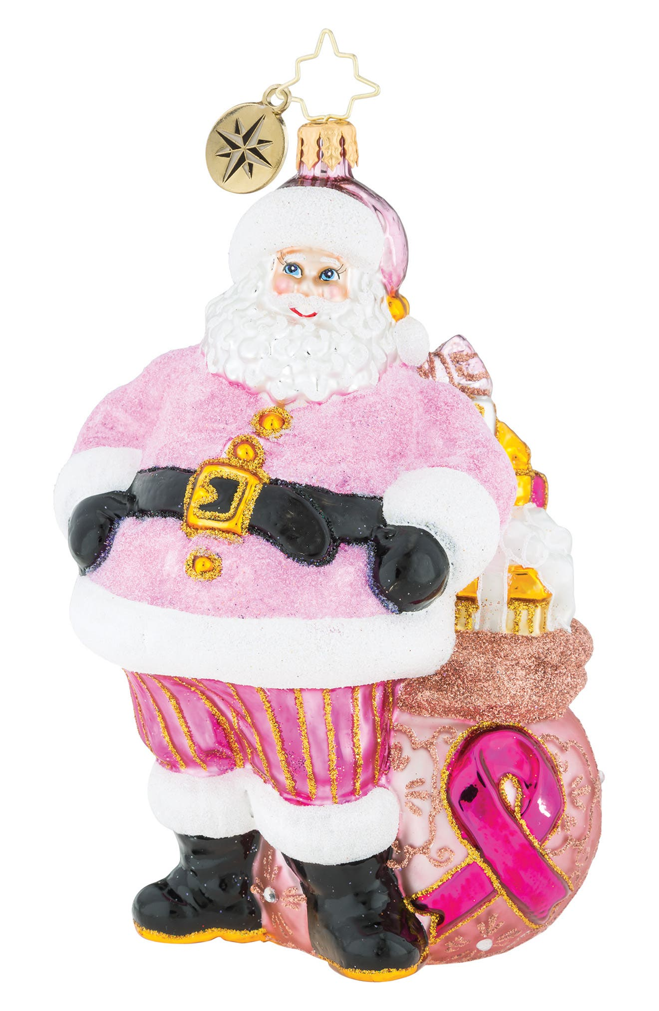 Pretty in Pink Breast Cancer Awareness Ornament, Main, color, 650