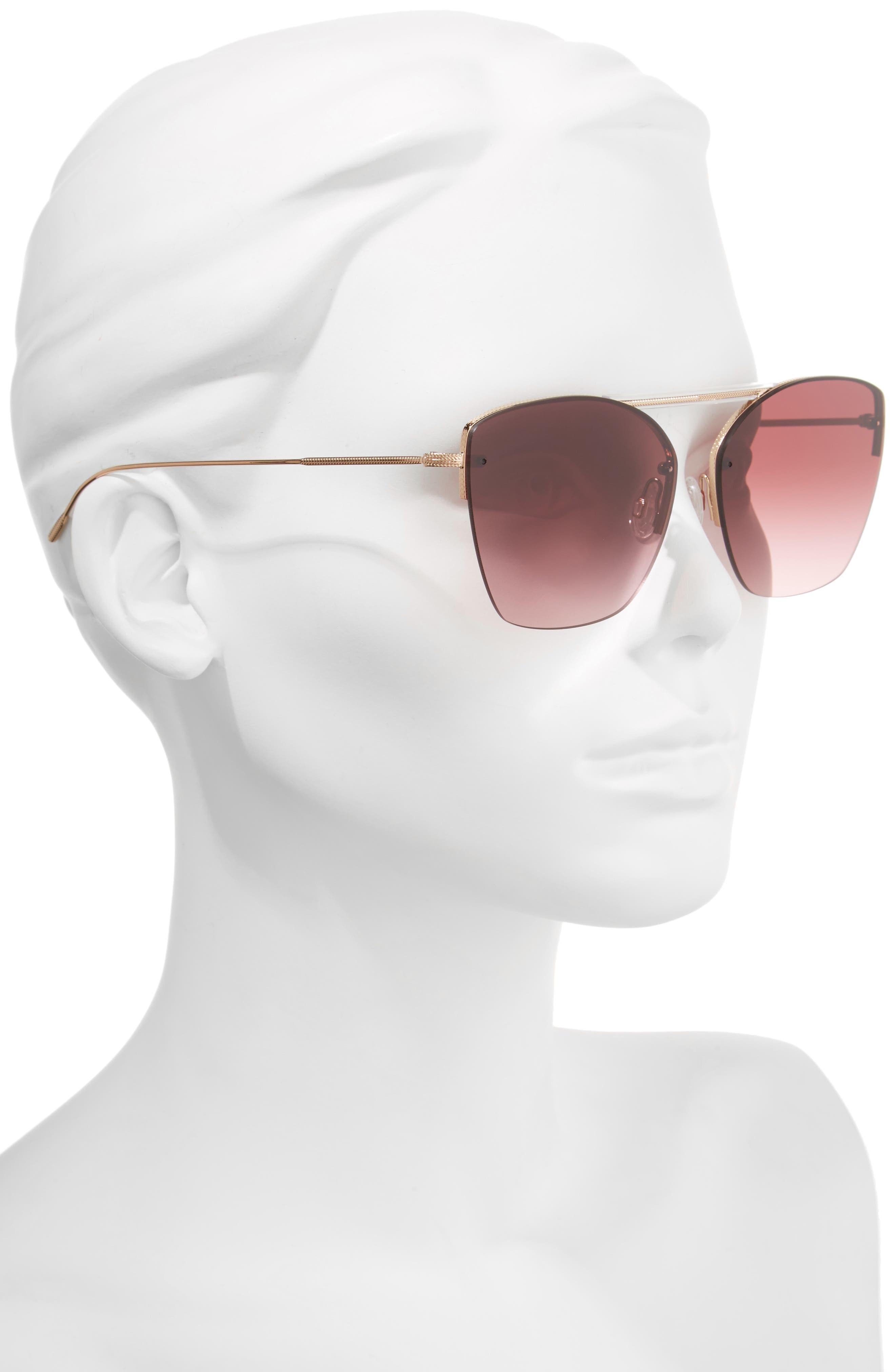 Ziane 61mm Rimless Sunglasses,                             Alternate thumbnail 2, color,                             650