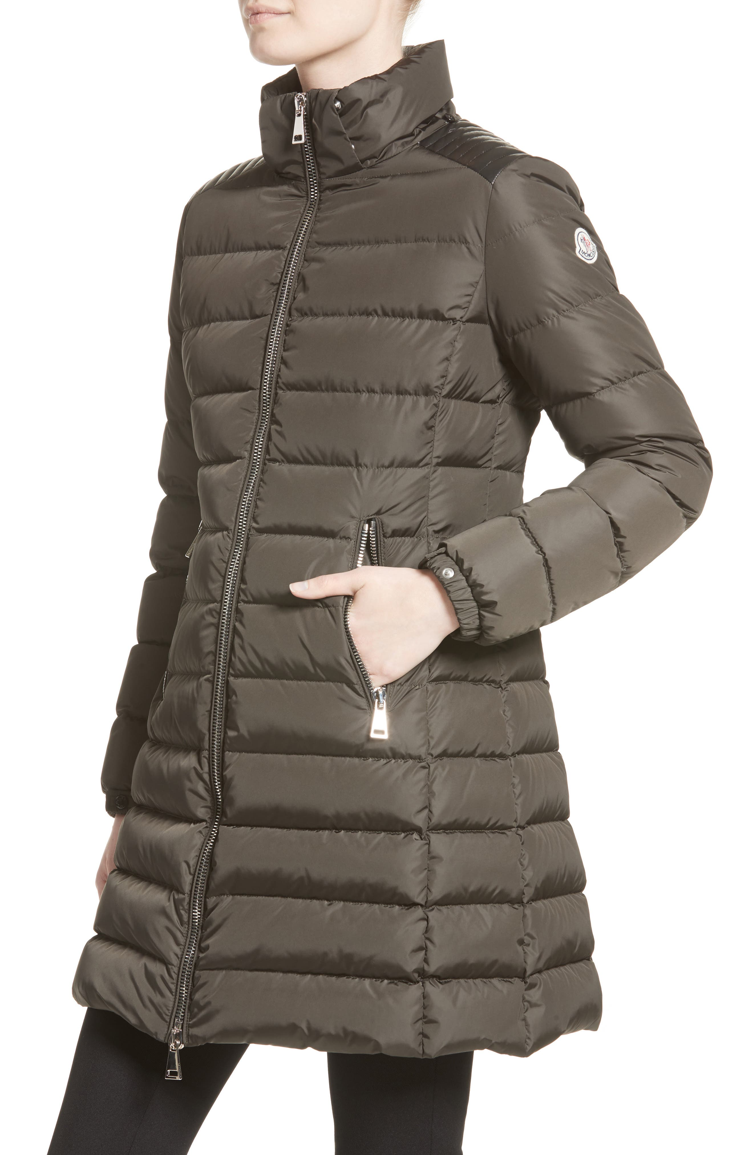 Orophin Hooded Down Puffer Coat,                             Alternate thumbnail 5, color,                             OLIVE
